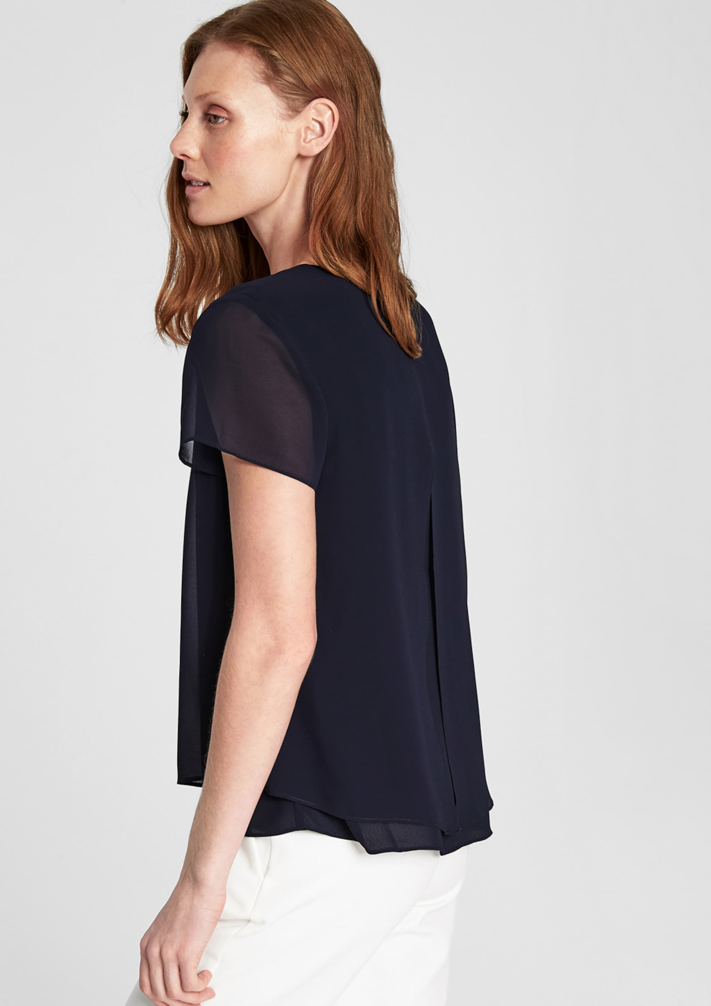 In Label oliver Black Chiffonbluse S Nachtblau OPuiTwkXZ