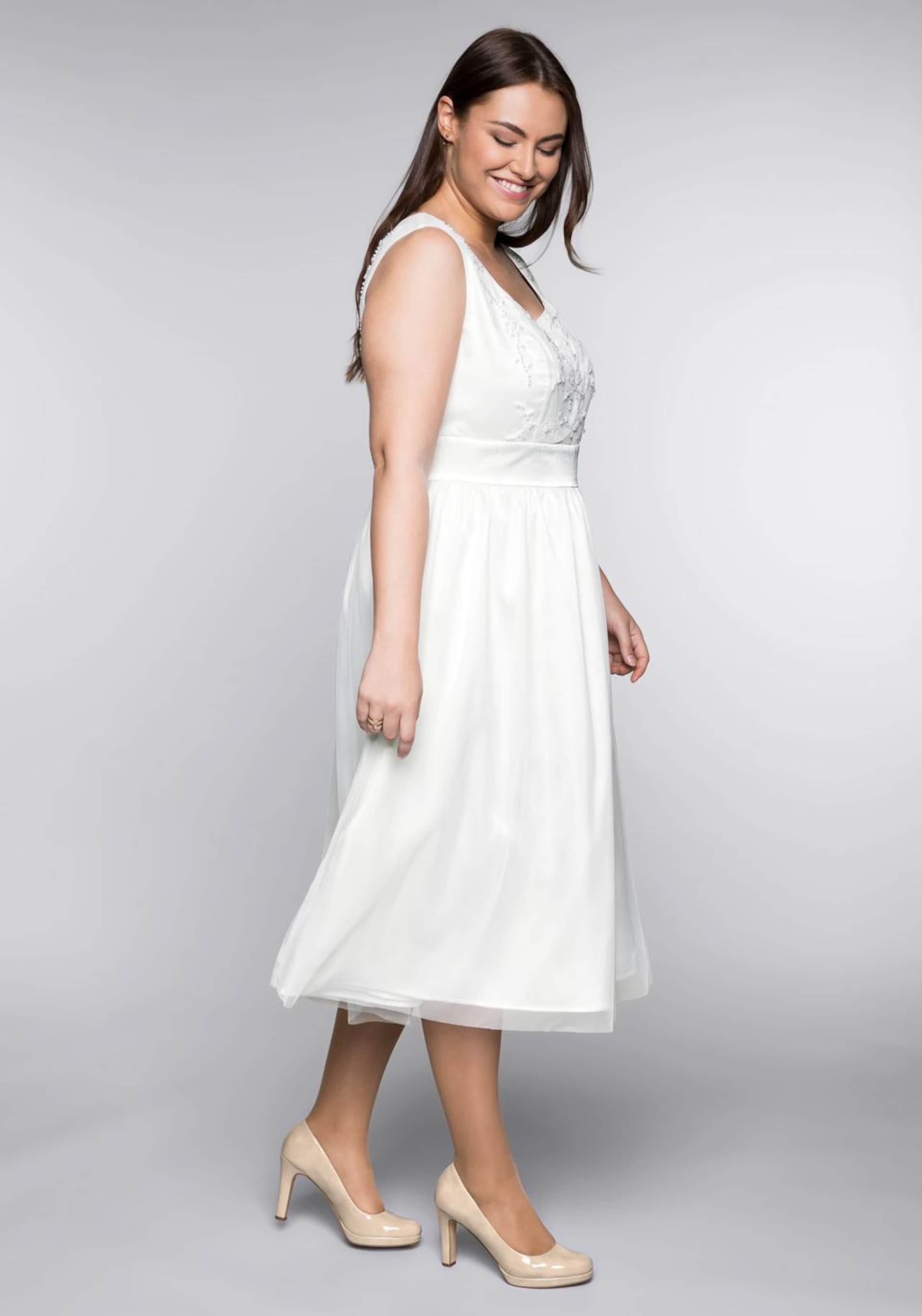 In Offwhite Kleid Style Sheego SUpzVqM