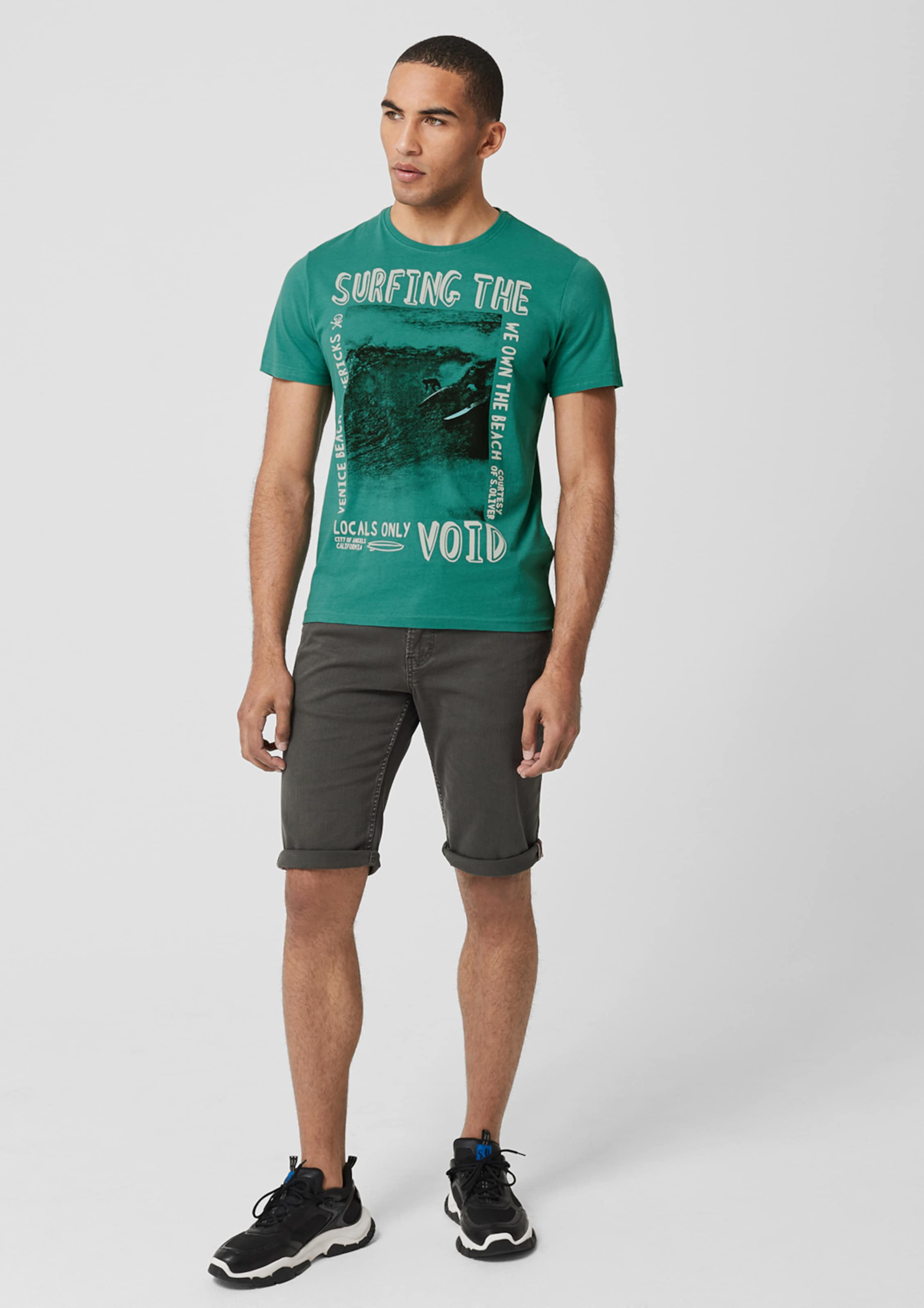 T In oliver shirt PastellblauSchwarz Weiß Label S Red wOv0mN8n