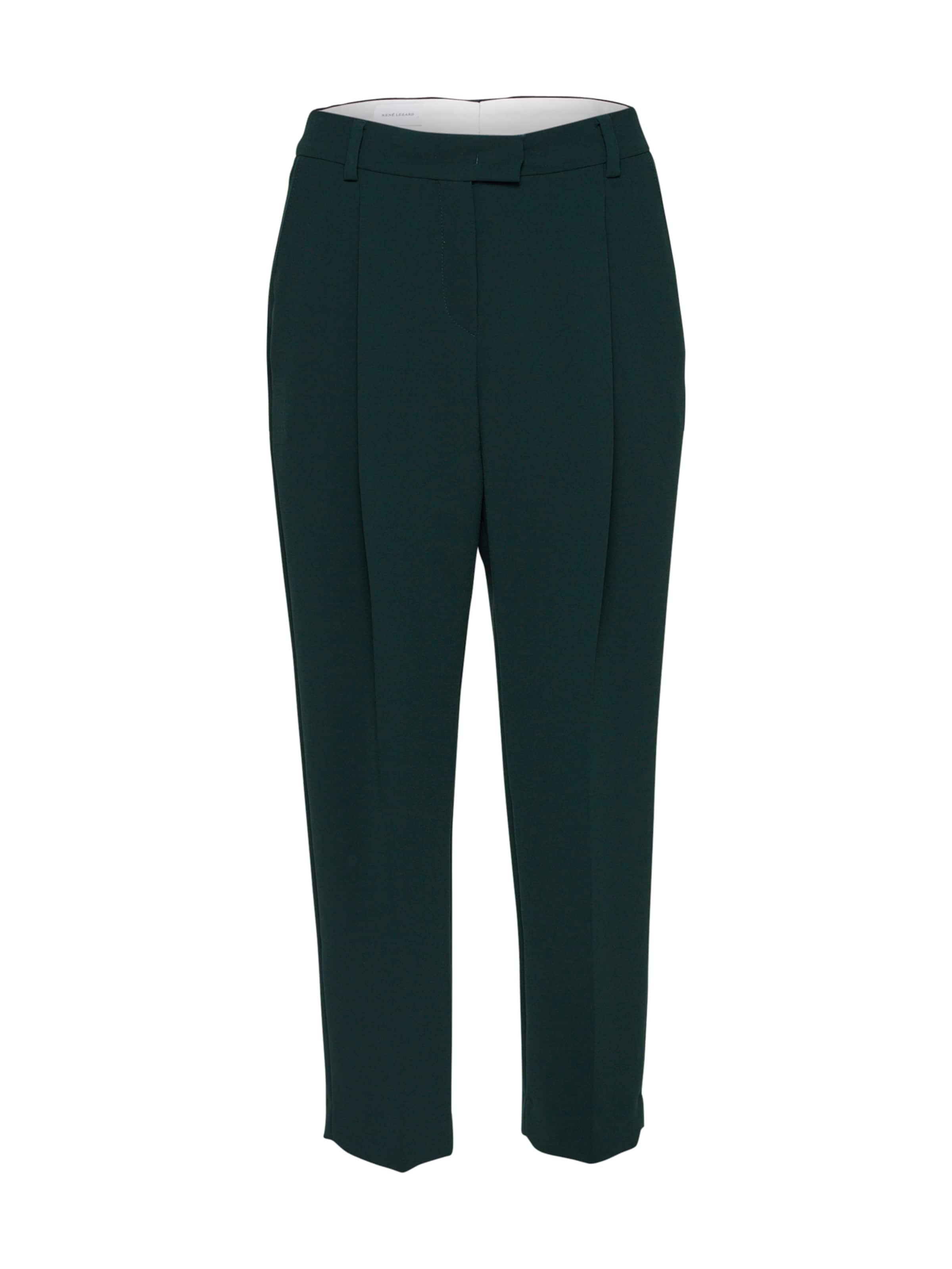 Pantalon Vert En Pince René Lezard Foncé 'f004' À f76vYbyIg