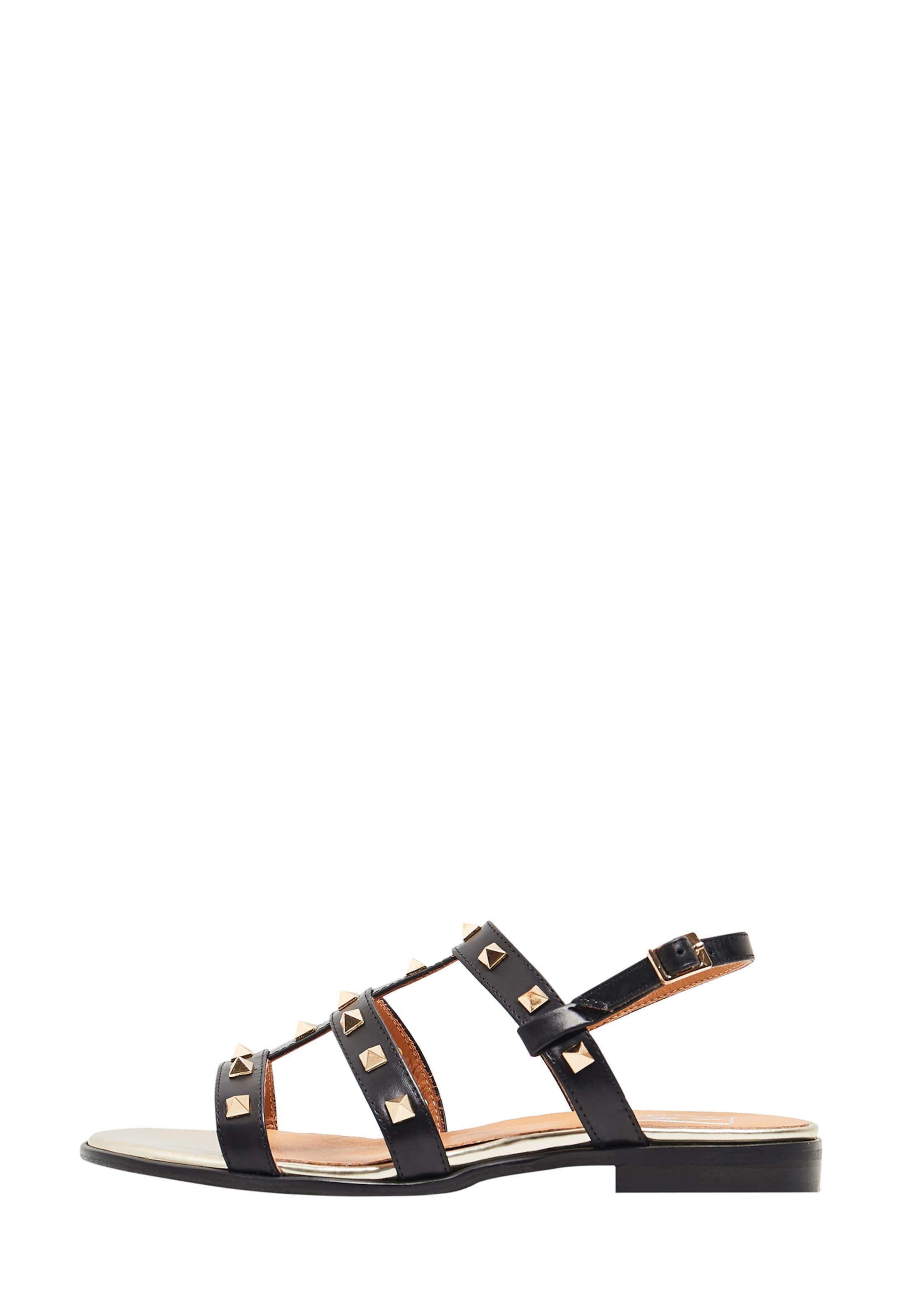 Sandales Noir Risa À Lanières En OkiuZPX