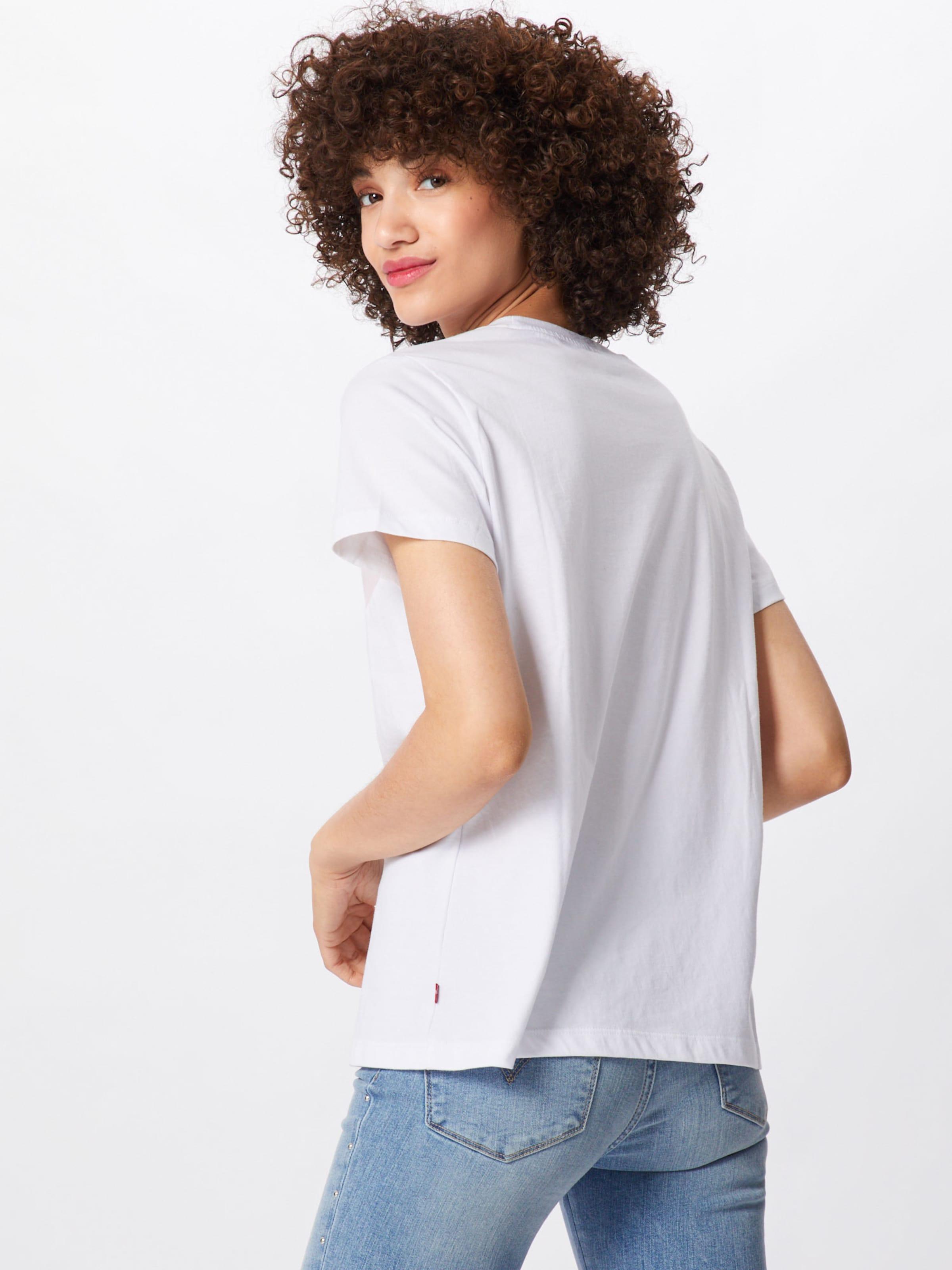 En Levi's T shirt RougeNoir 'florence' Blanc zpSMVU