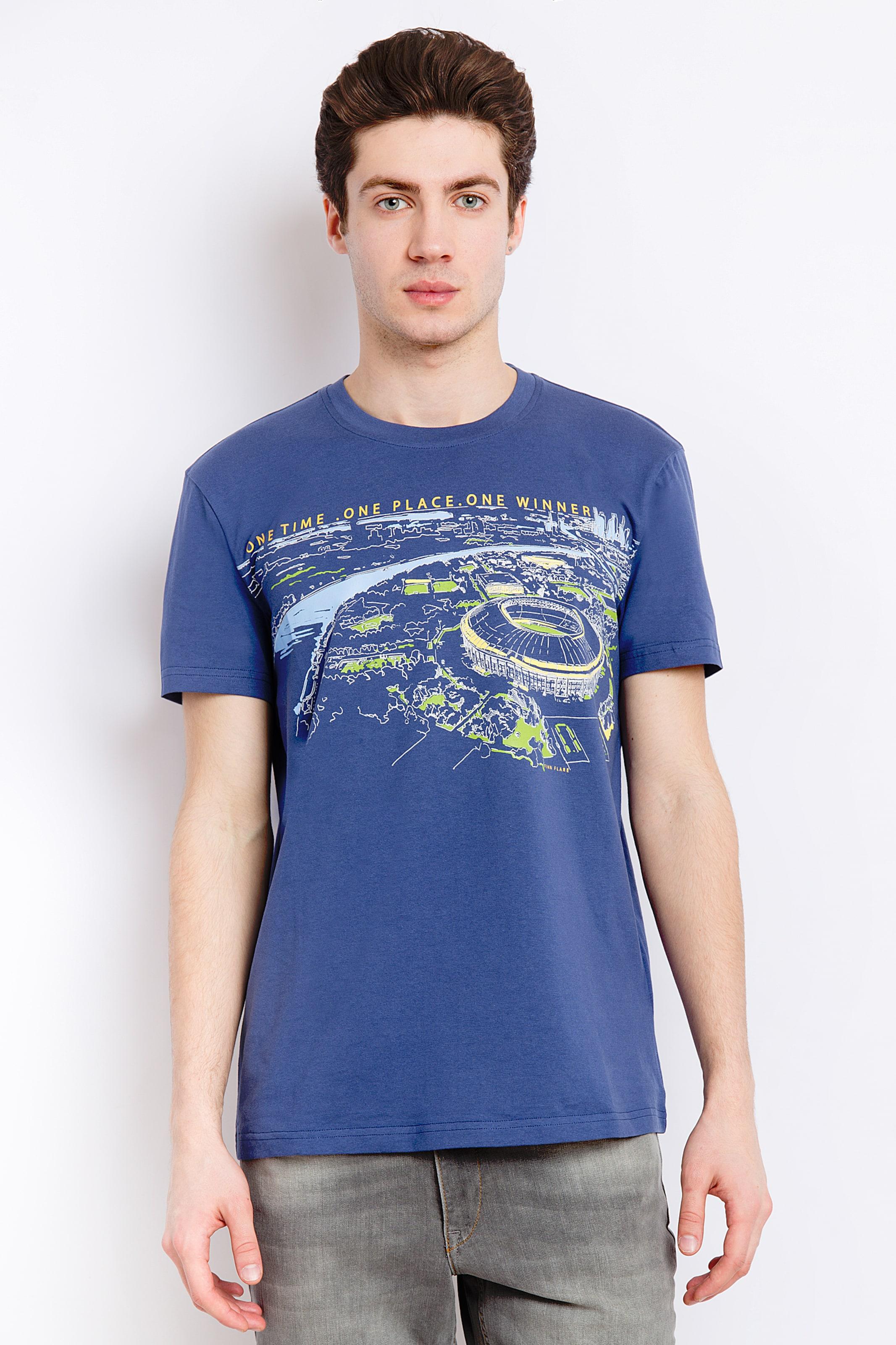 Flare T shirt In Finn Himmelblau pqSUVzGM