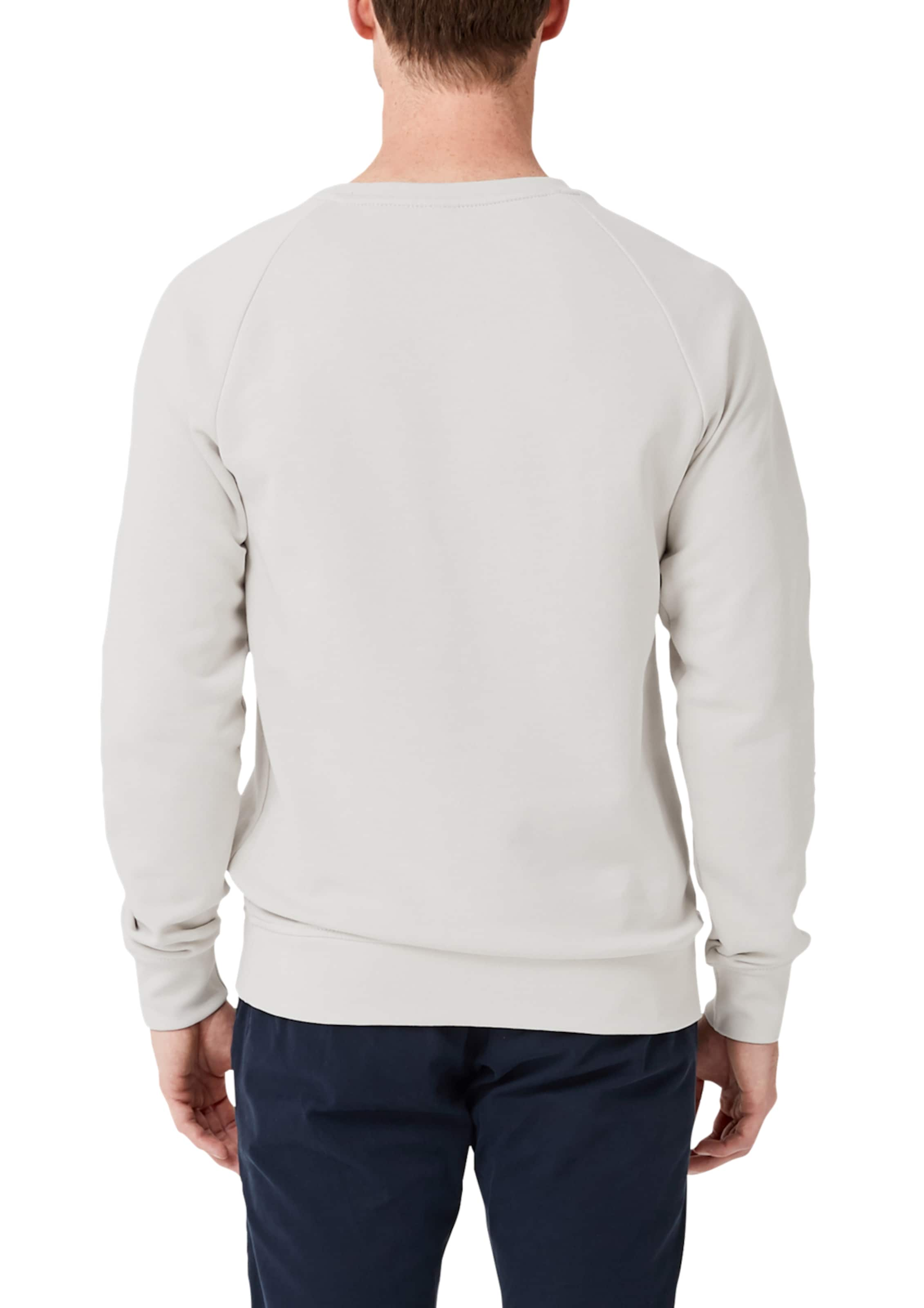 Sweatshirt Neck Label oliver Crew In Red Mit S Perlweiß f7gy6YvIb
