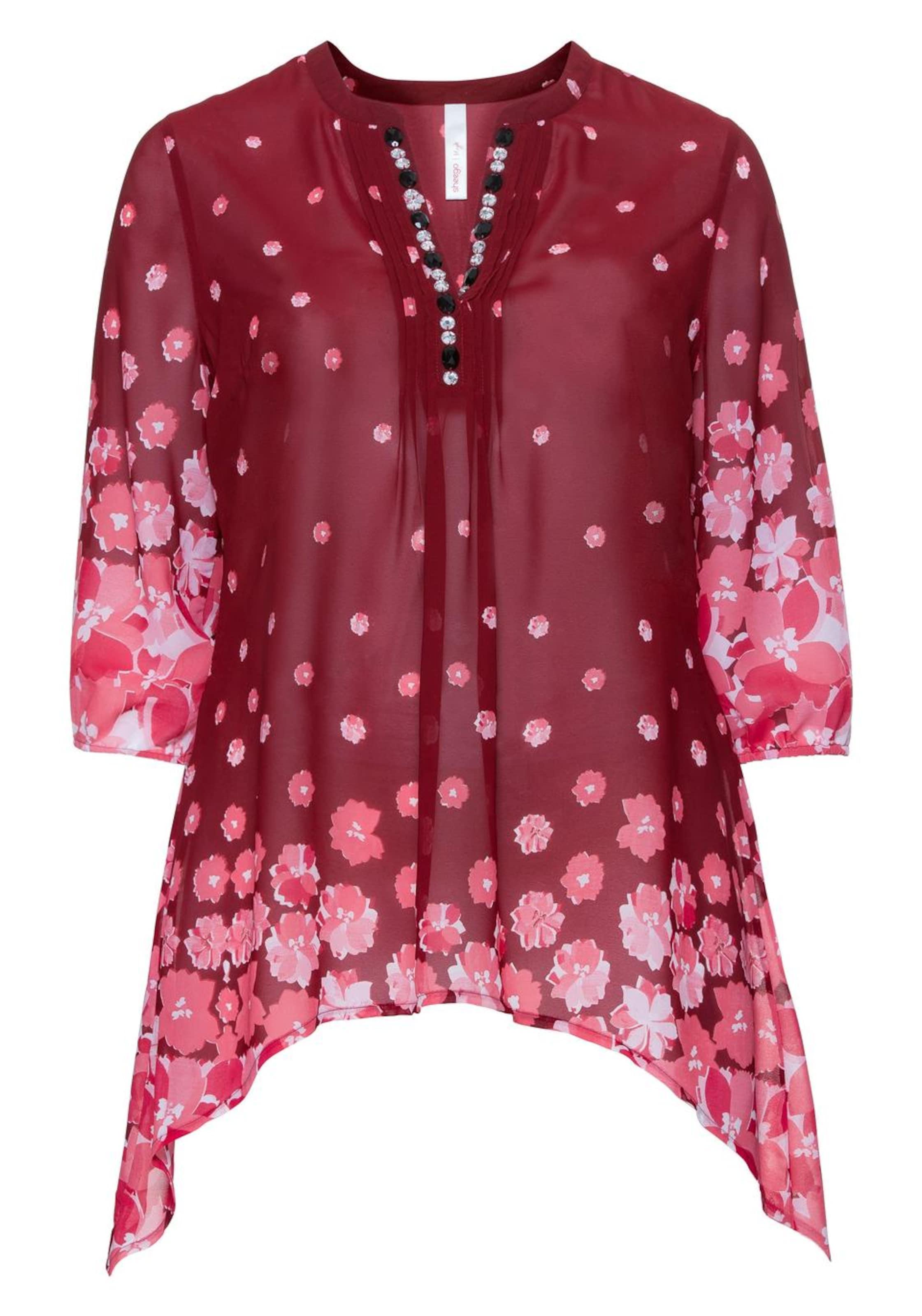Style PinkRubinrot Sheego In Weiß Tunika Kl1cFJ
