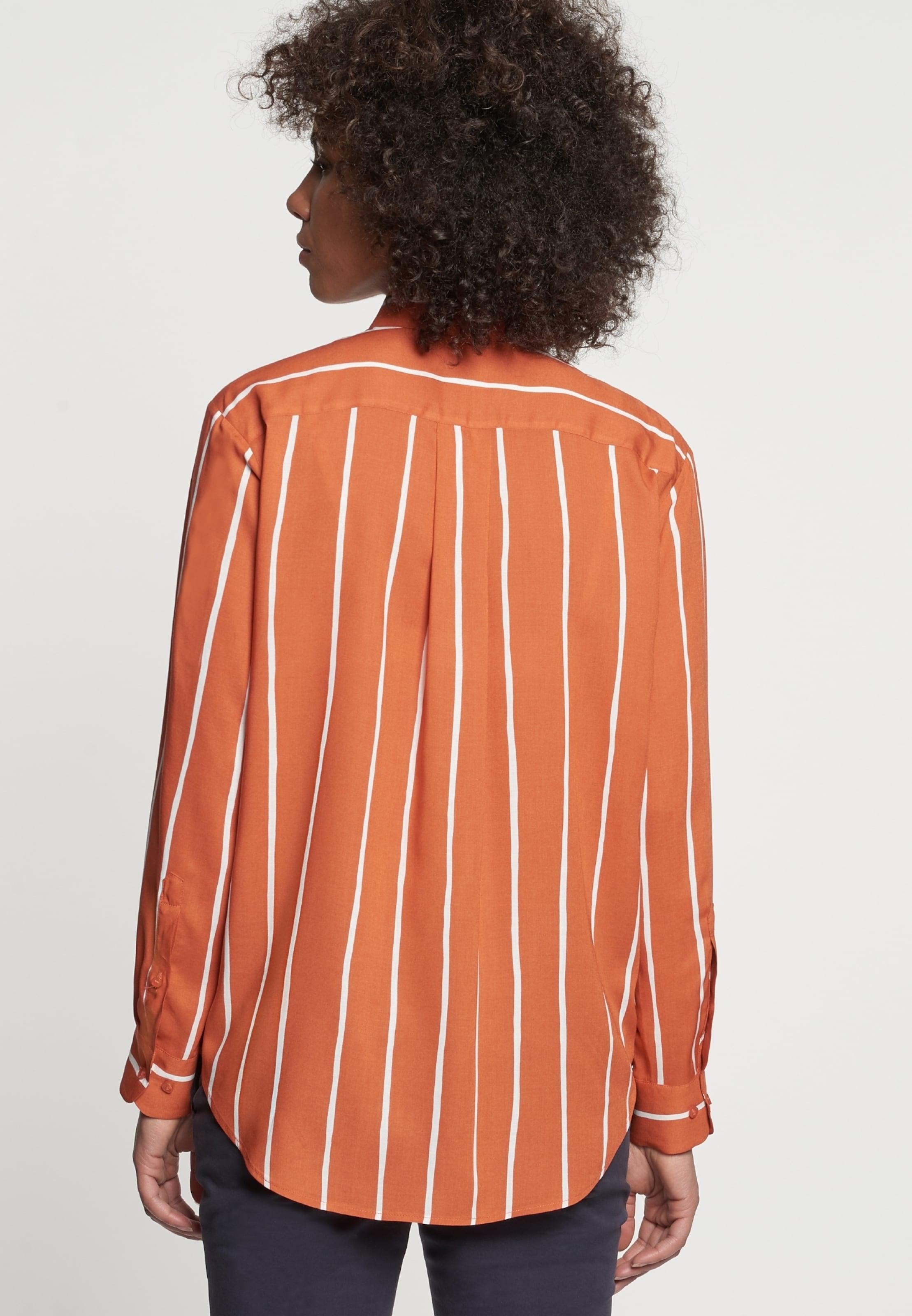 'schwarze Chemisier Seidensticker Orange En Rose' 4ALj5R