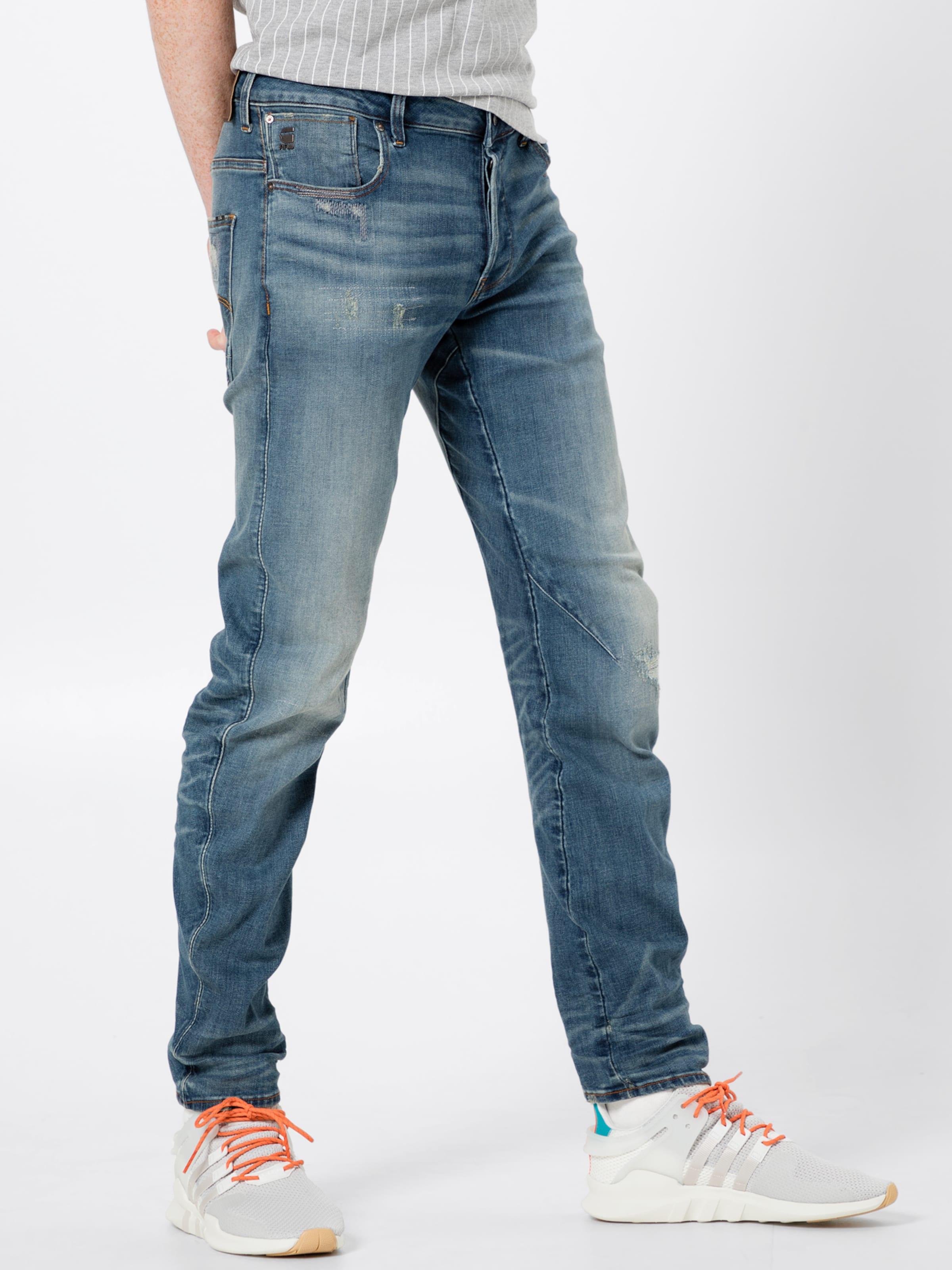 star 3d Slim' Jean En 'arc Raw Bleu Denim G fyIgb6vmY7