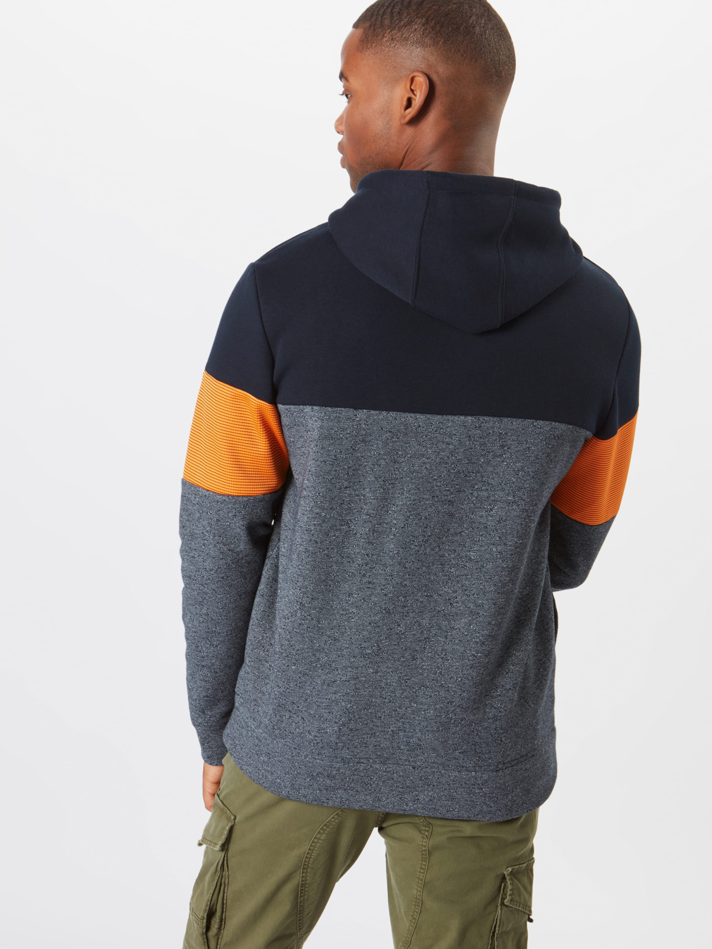 shirt Sweat Jones Hood' En Bleu Jackamp; FoncéOrange Sweat 'jcomart 4Rq5j3LA