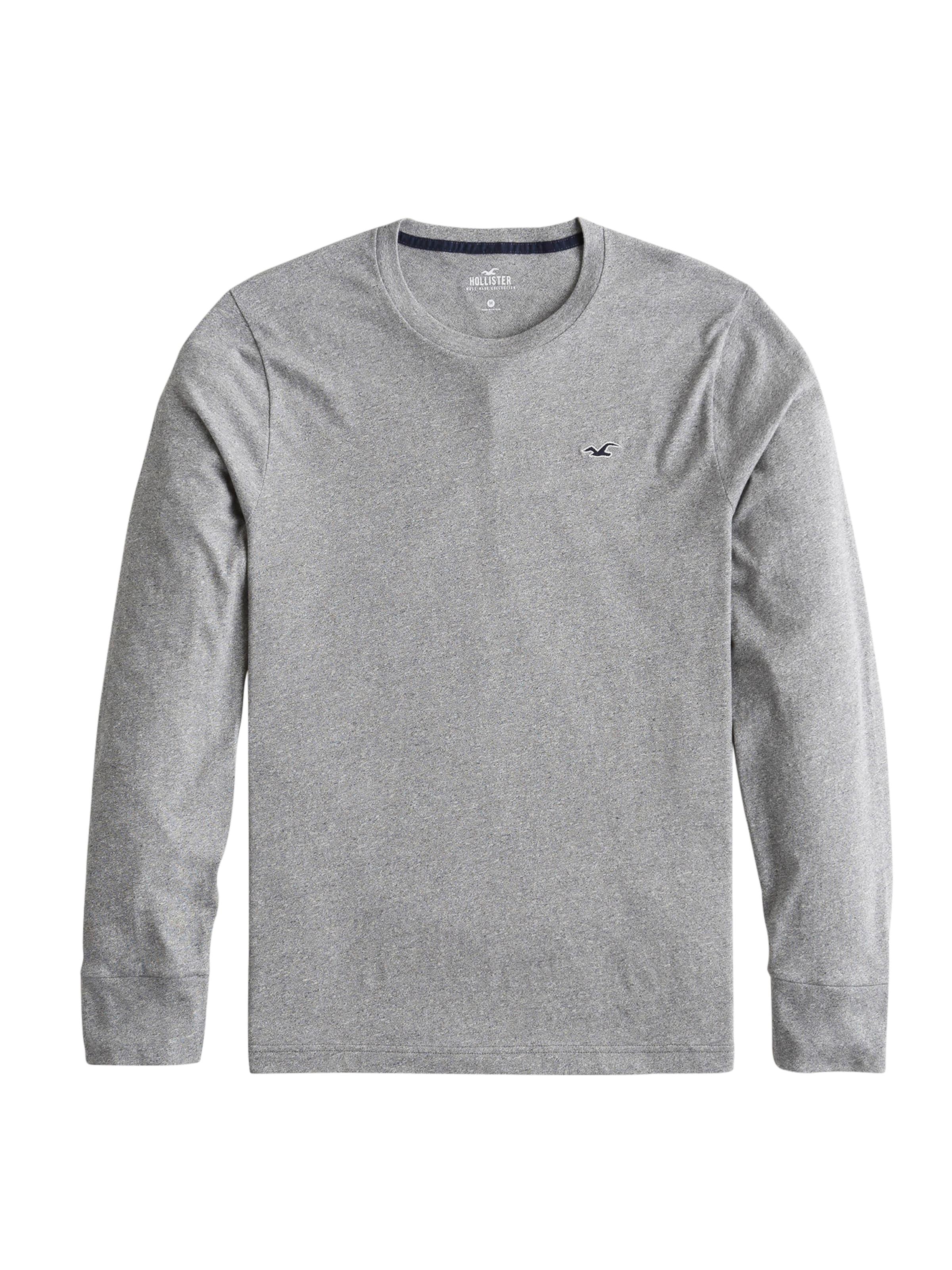 En Ls T Straight Noir Crew 6cc' Hem mh Hollister 'bts19 shirt DH9WYE2I