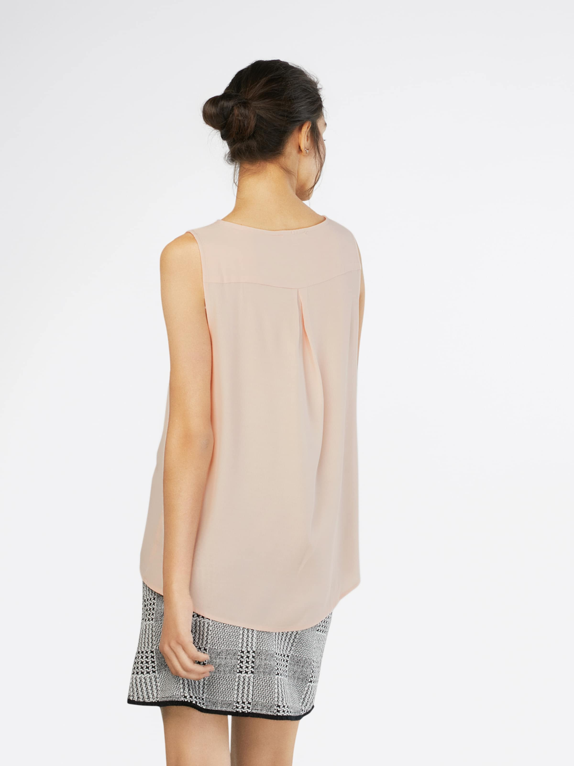 En amp;berry Pintuck Blouse Tunique 'sleeveless Shoulders' Mint With Rose Y6y7gvbf