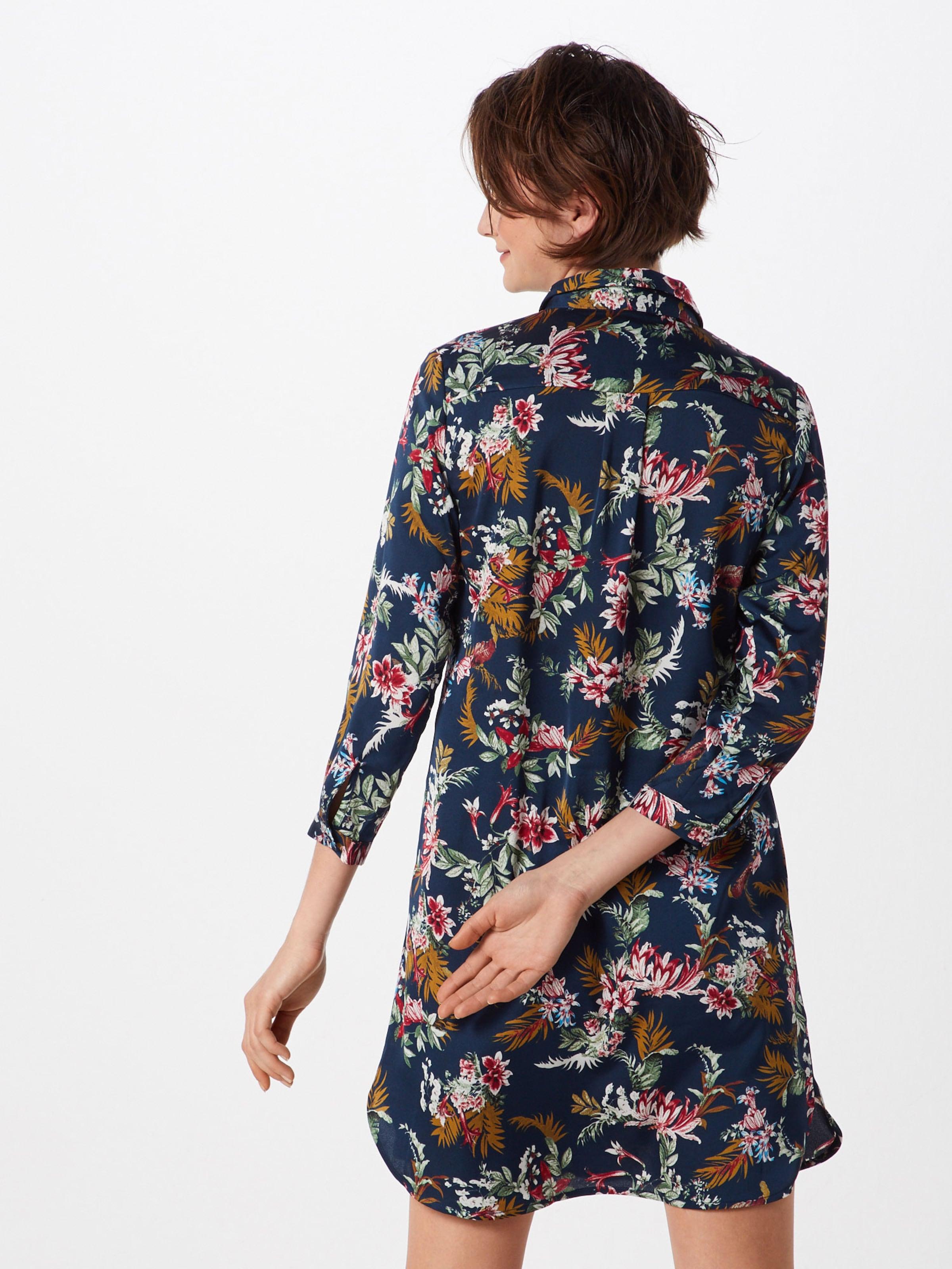 Copenhagen Couleurs De chemise 'bloom' MarineMélange Robe Pop En Bleu CQtshrd