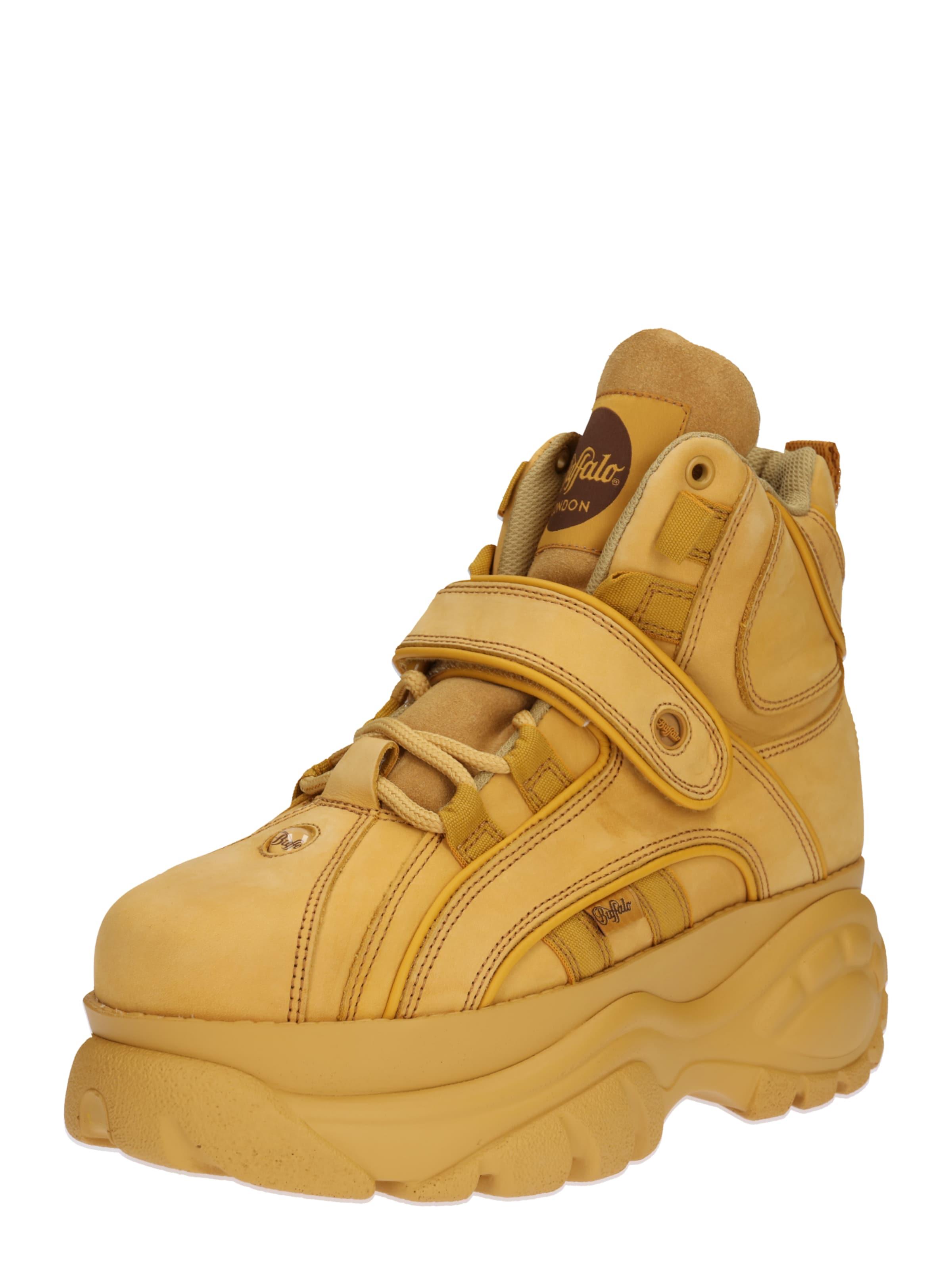 In Buffalo Geel London Sneakers Hoog n0OPk8w