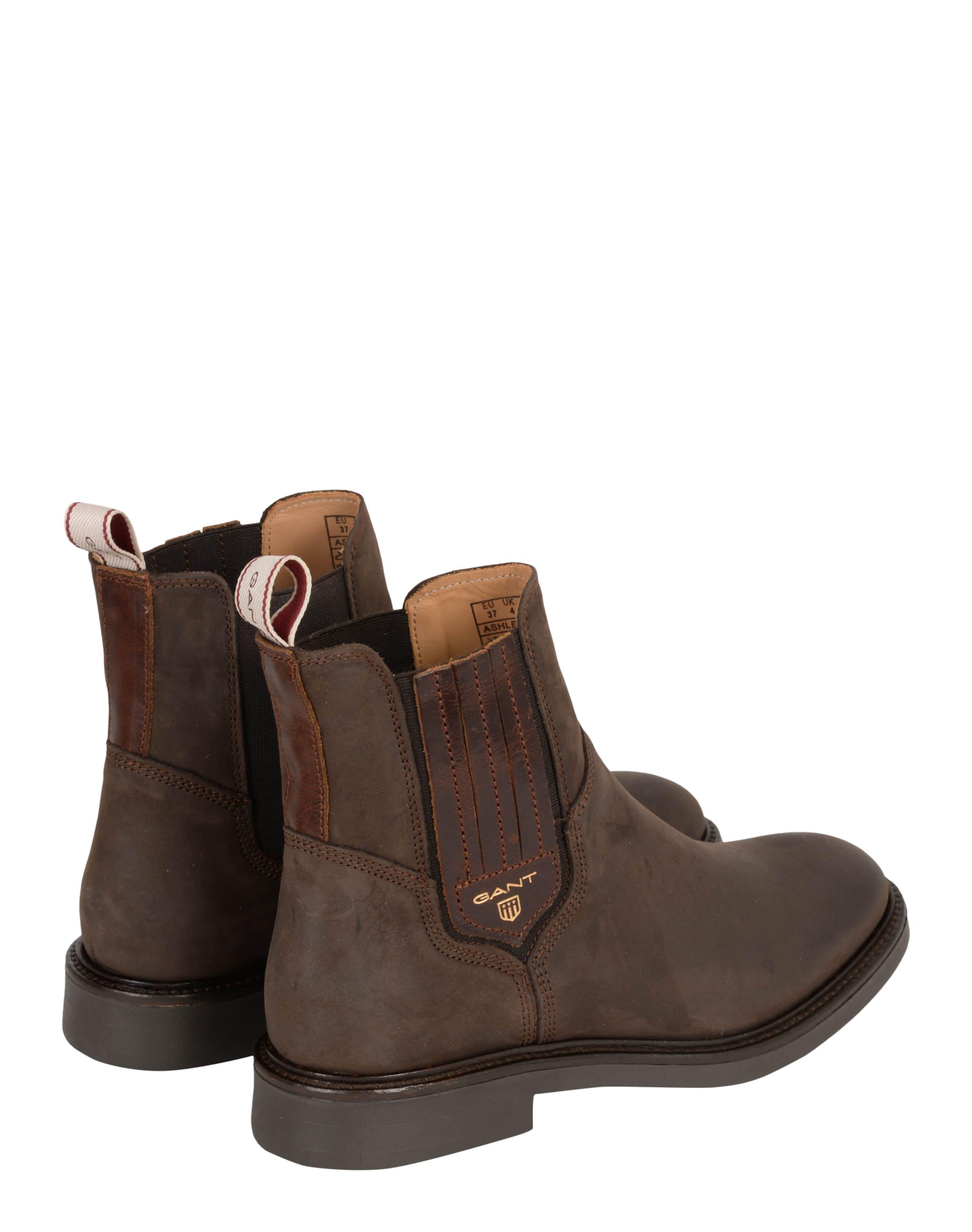 Gant 'ashley' Foncé Boots En Brun Chelsea eWxCBrdo