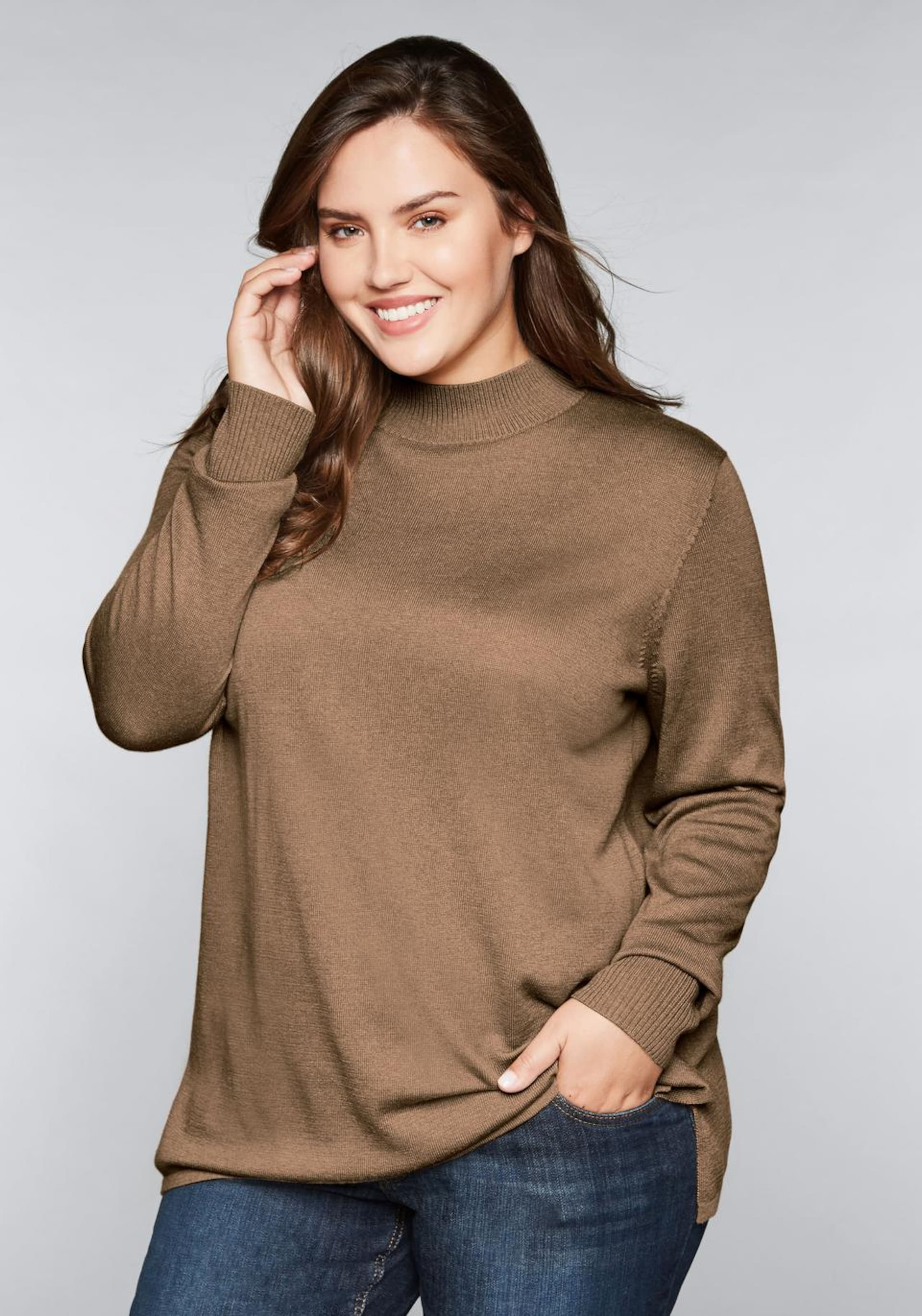 In Sheego Casual Sheego Pullover Karamell MSVUqzp