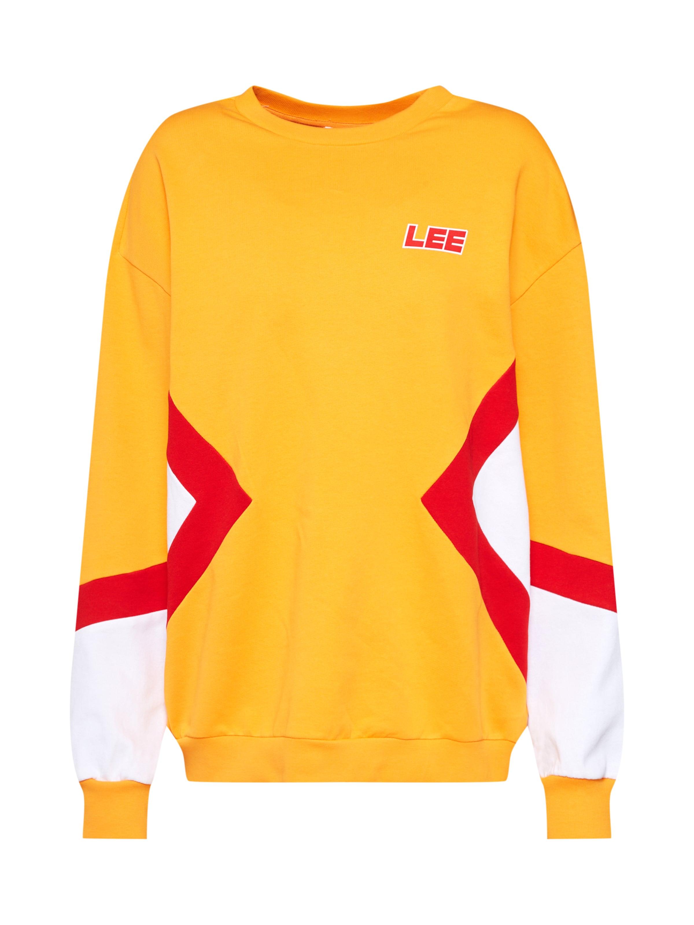 Jaune En Lee Sweat D'orRouge shirt Blanc 'seasonal Sws' Clair L54ARj3