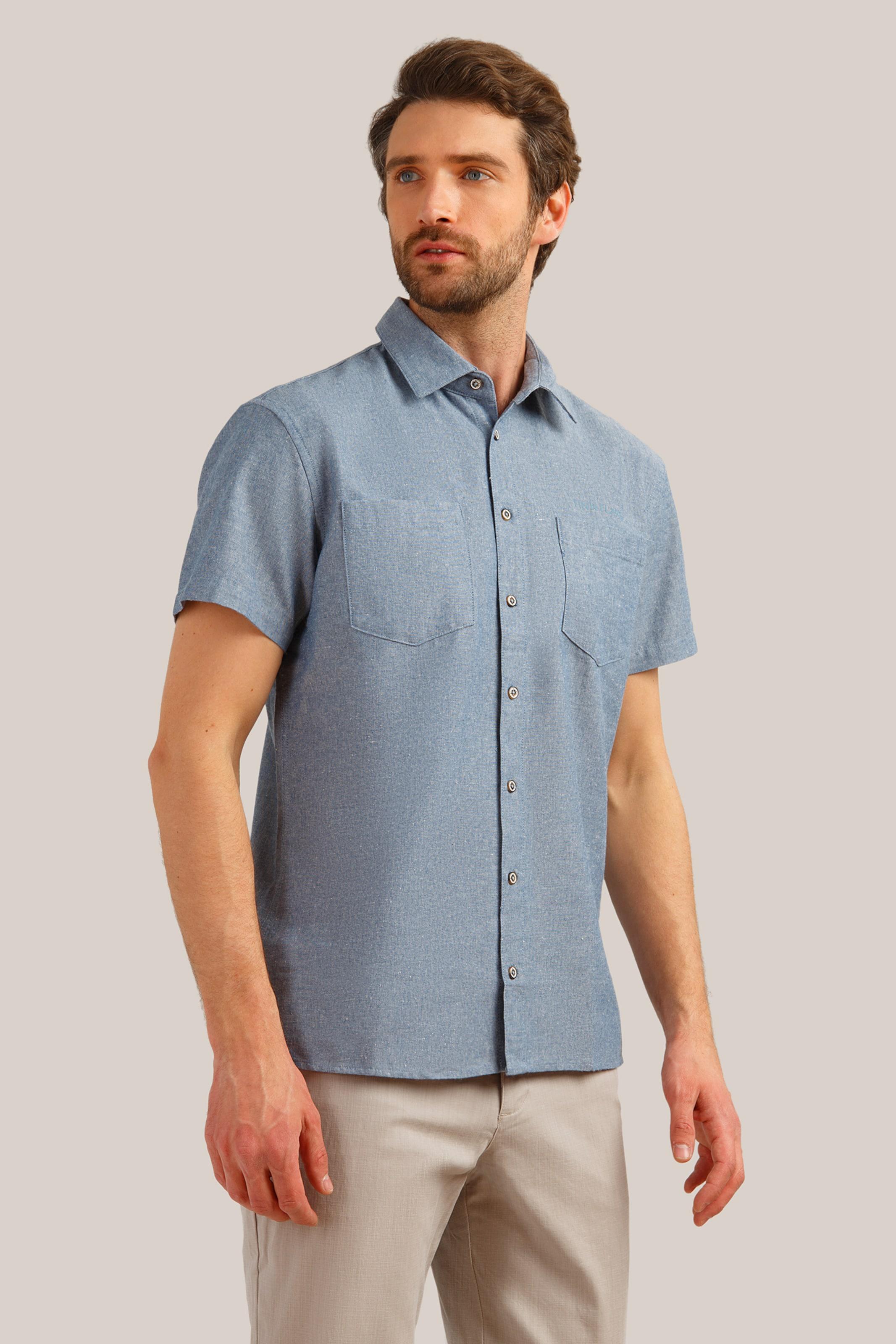 In Hemd Flare In Blaumeliert Finn Finn Flare Hemd xedBCo
