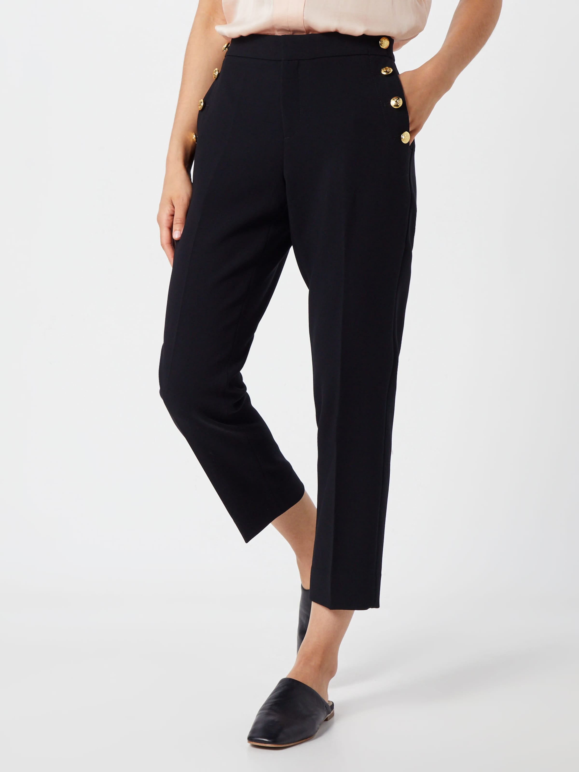 Pant' Noir Republic Pantalon En Crepe Banana Sailor 'avery 435qAjRL