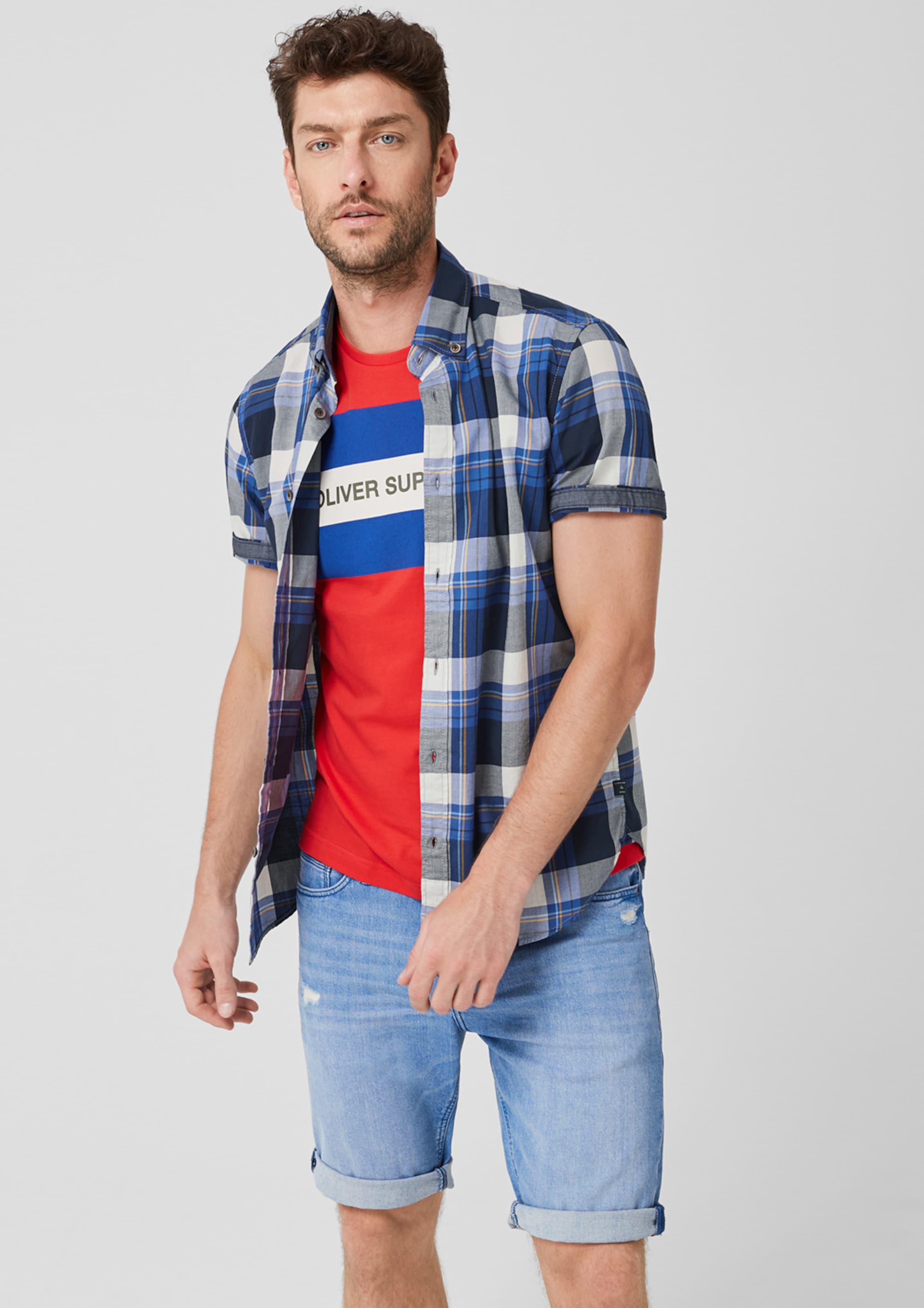 S BlauMischfarben oliver Label Red Hemd In IDEH29