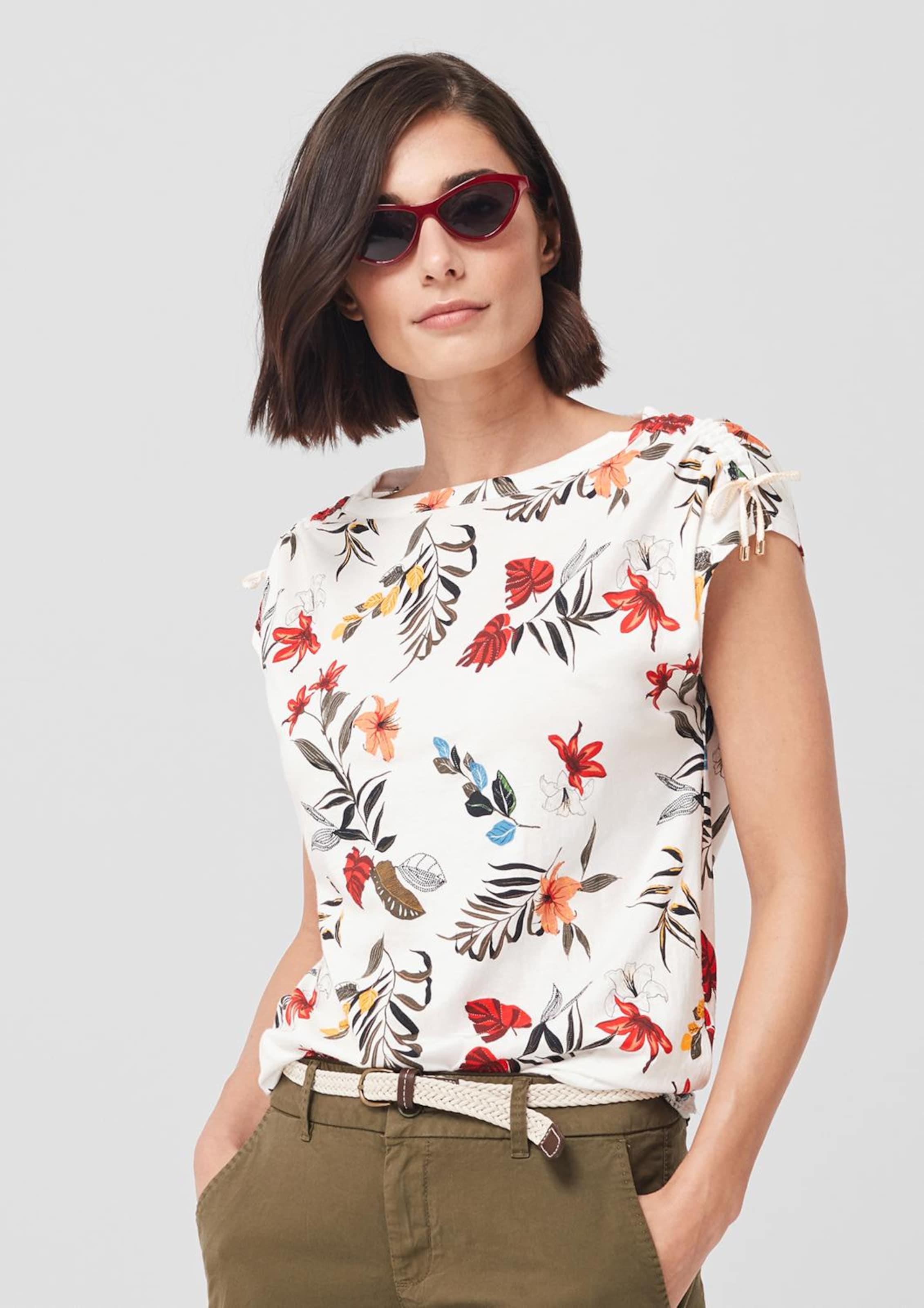 S oliver Label Shirt In MischfarbenWeiß Red DH2IYWEeb9