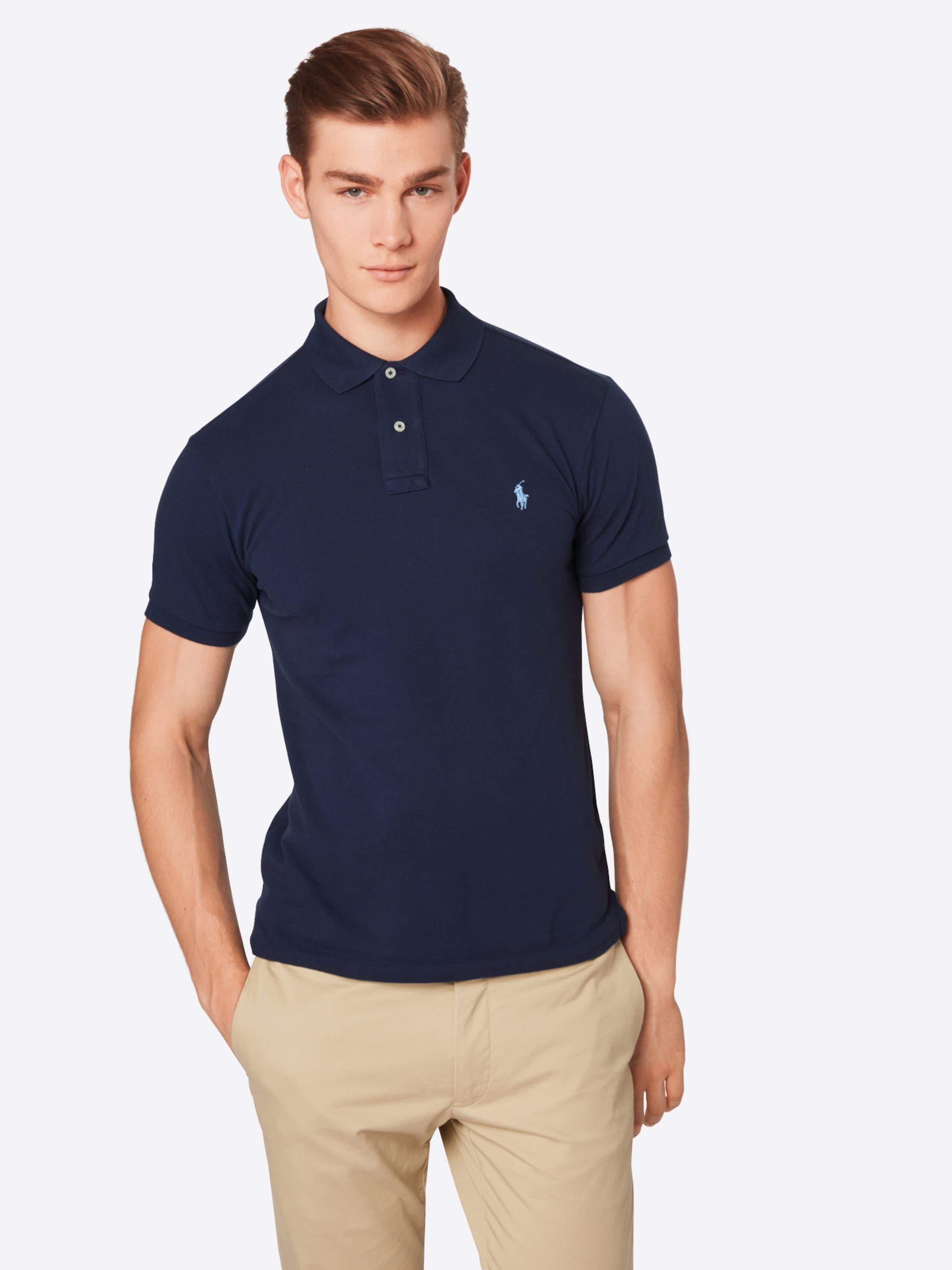 short Sleeve shirt Lauren En Fit Ralph knit' Gris 'ss Polo T Slim 345LqcARj