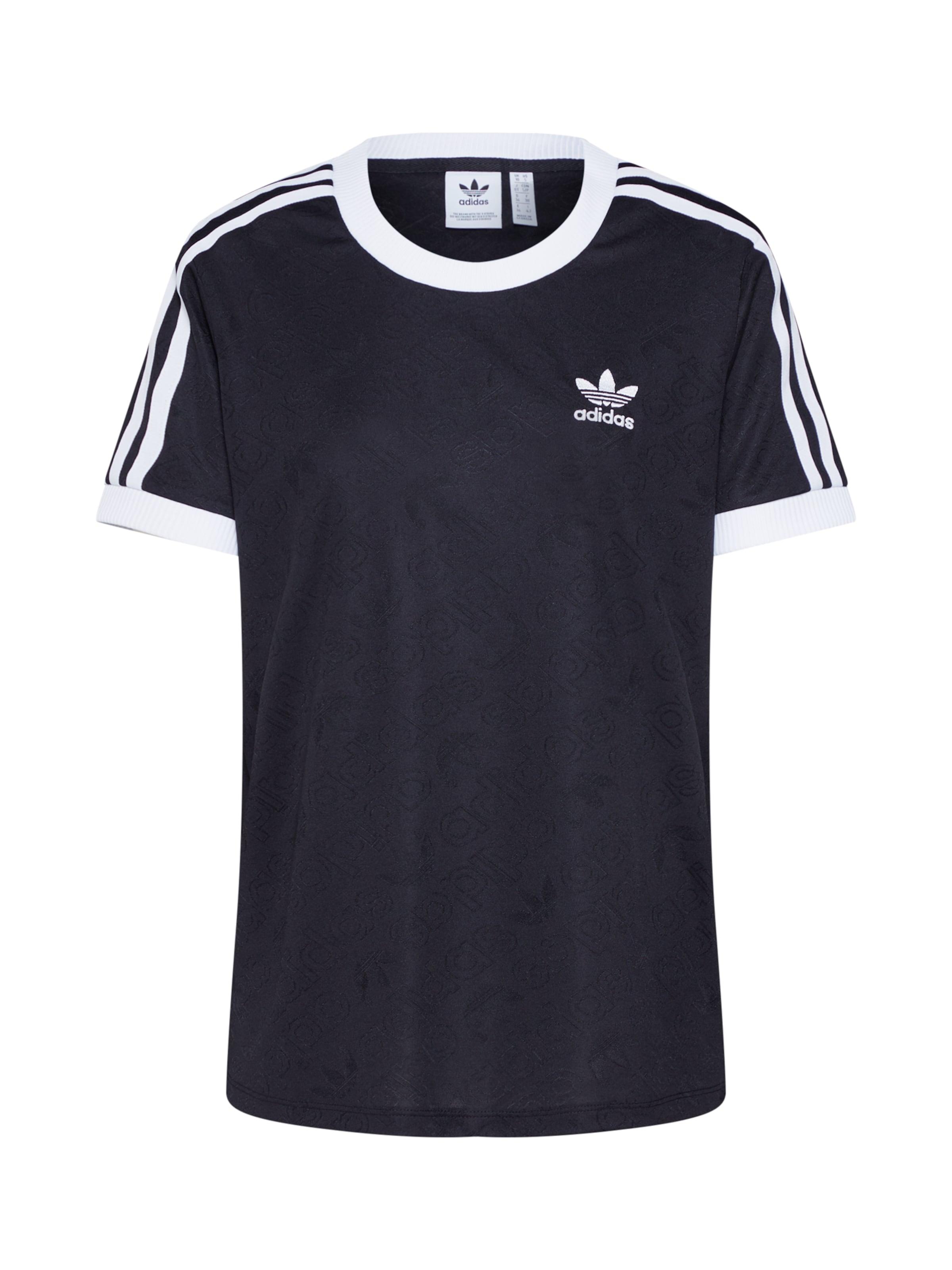 NoirBlanc Adidas shirt En stripes' T Originals '3 wn80vmN