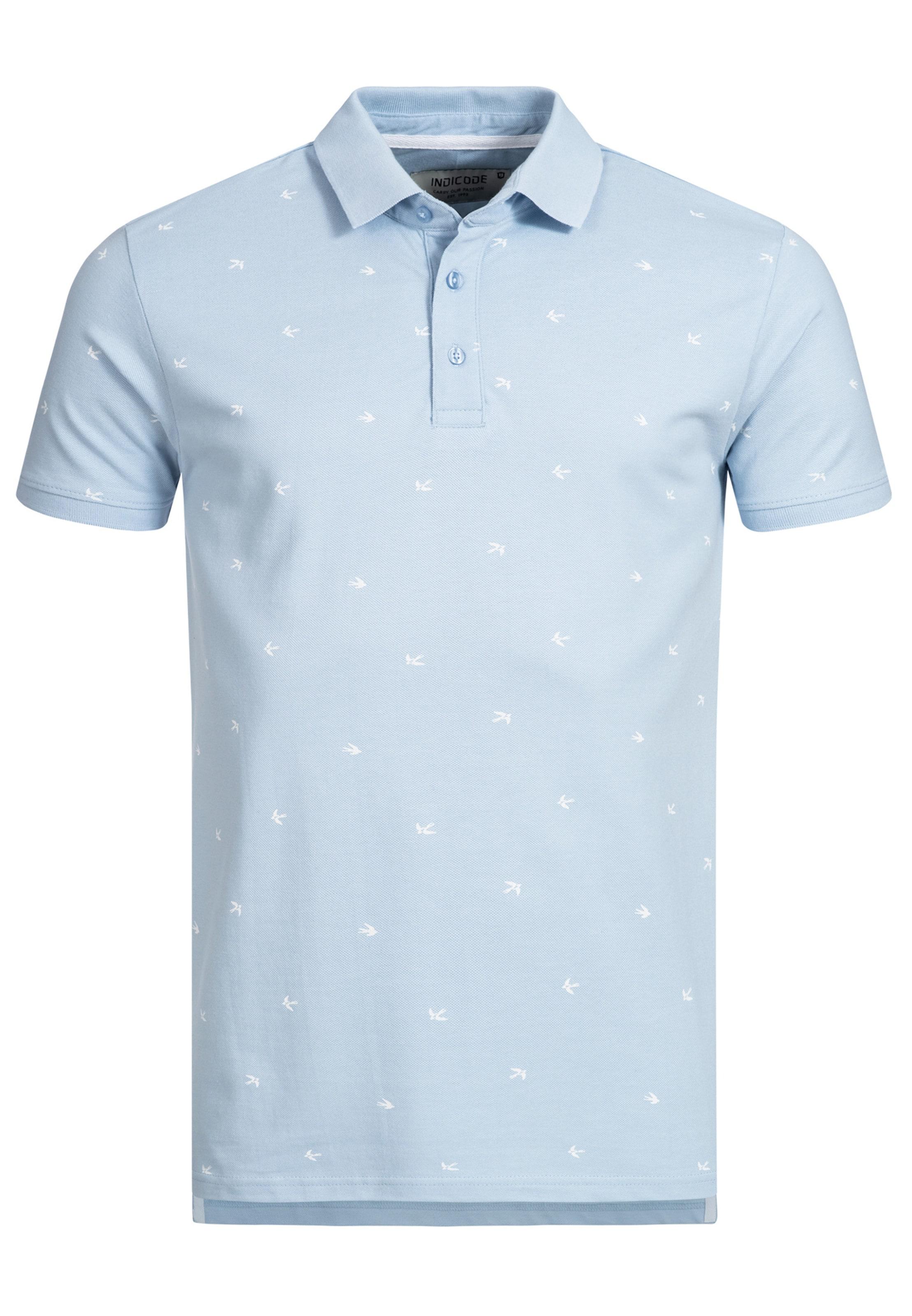 Indicode Bleu 'hampden' Jeans T ClairBlanc shirt En nOPk80w