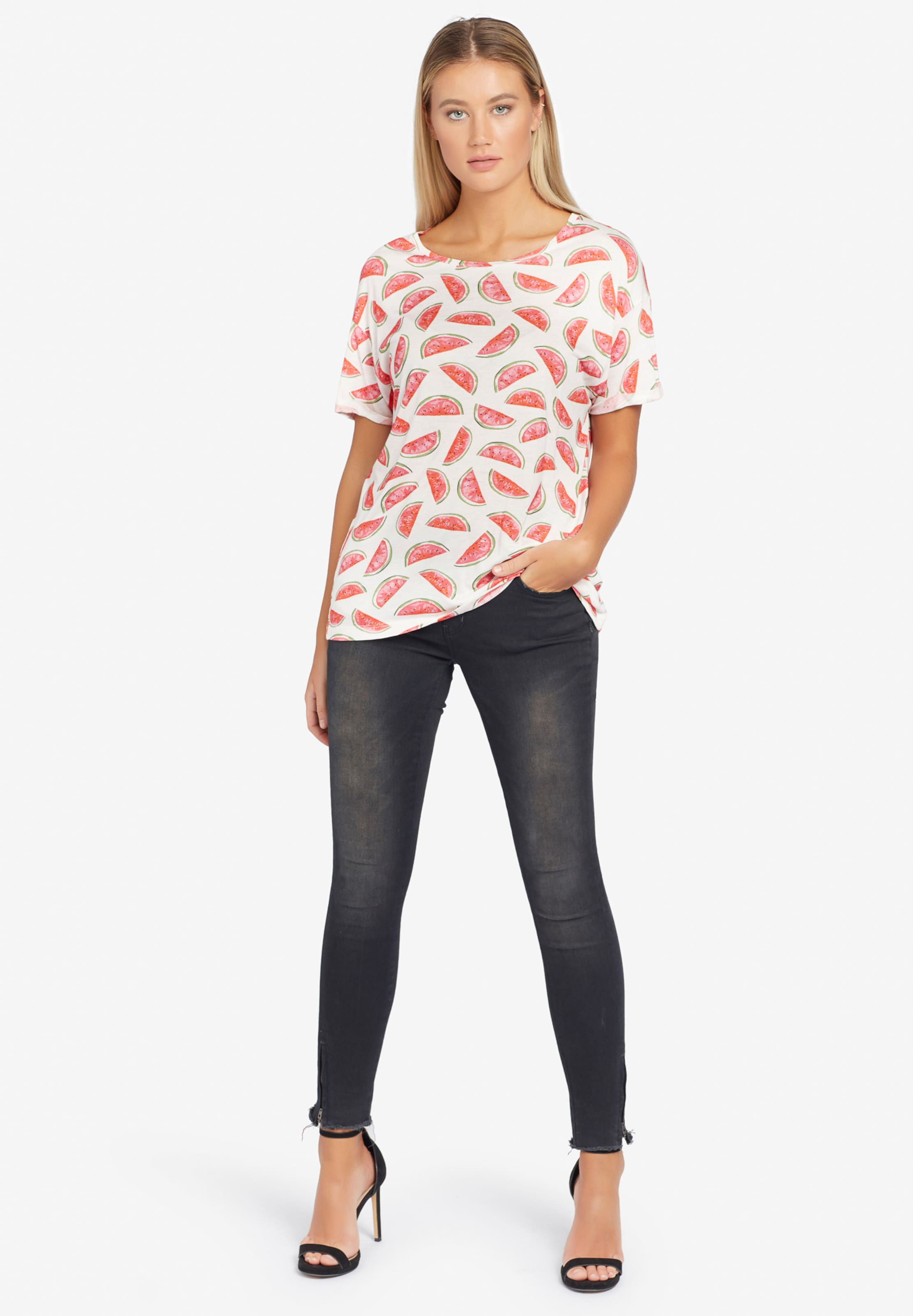 'ornate Print' De shirt Mélange Khujo T Couleurs En zSMqpVU