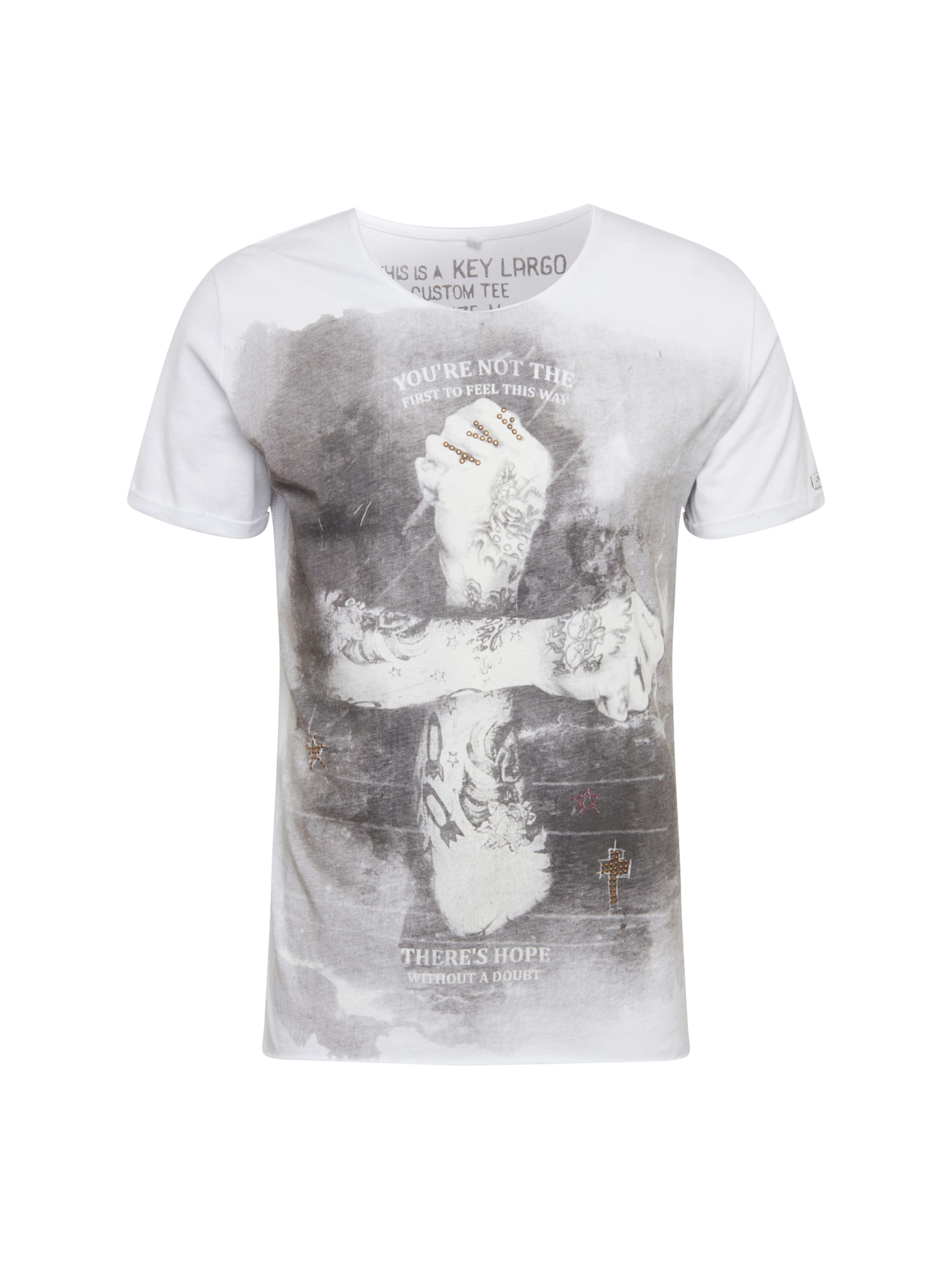 Round' T Key Largo shirt En Doubt 'mt GrisBlanc E9YeIHWbD2