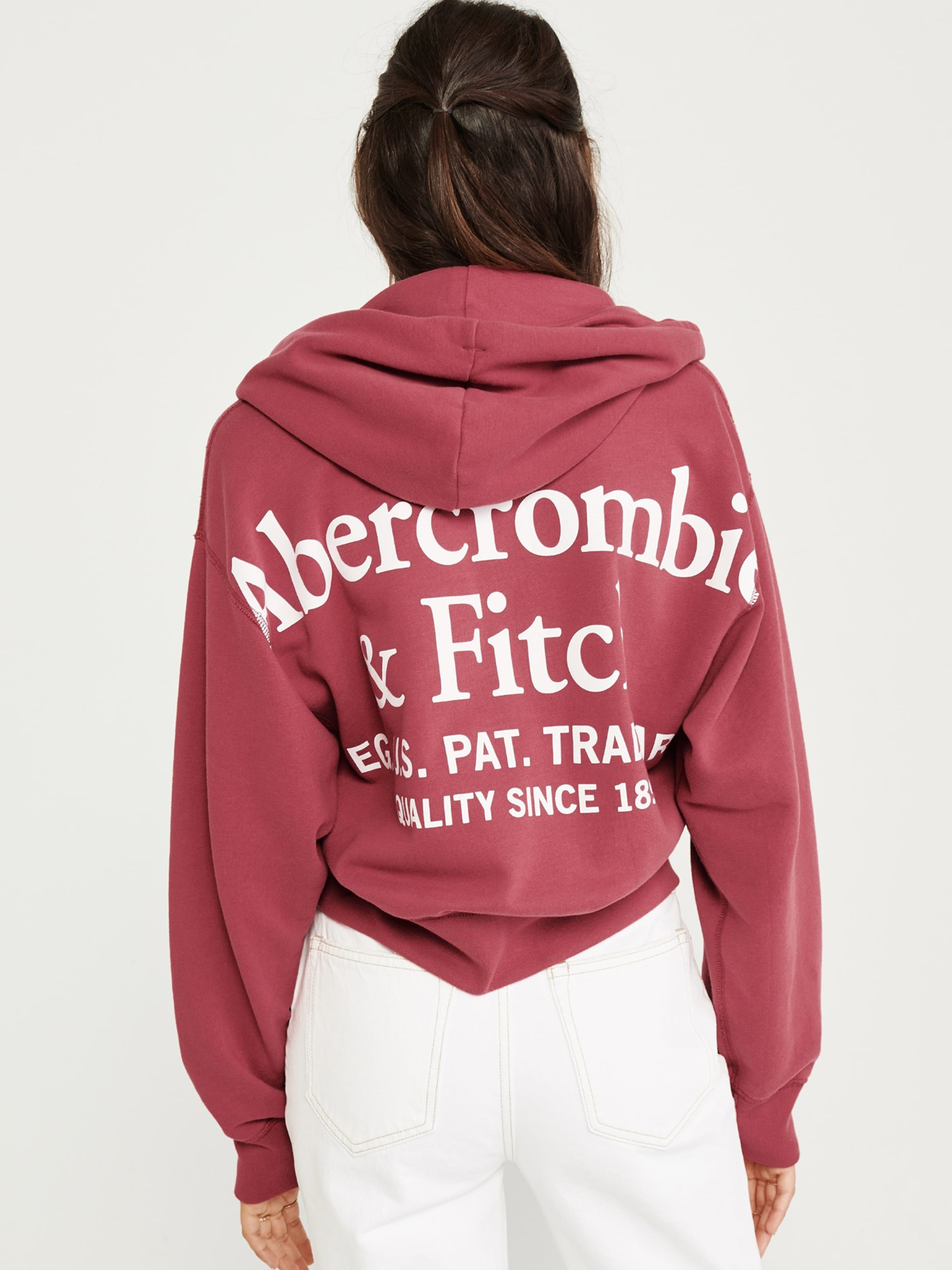 De Pastel Survêtement 'seasonal Fitch Veste Fz' Rouge En Abercrombieamp; b6vYf7gy