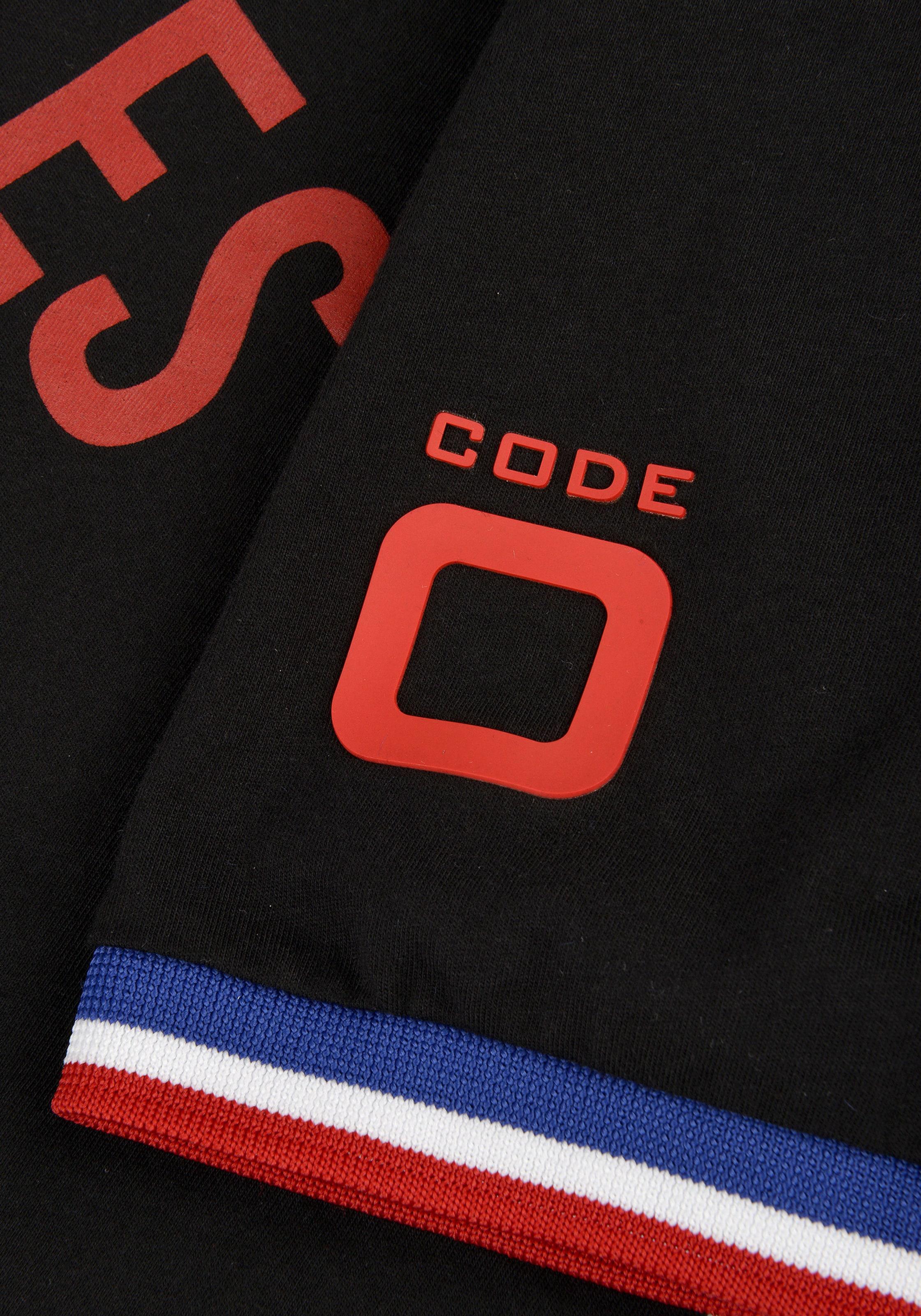 In Port zero 'ss OrangeOrangerot T Code Vauban' Schwarz shirt n8wNOvm0