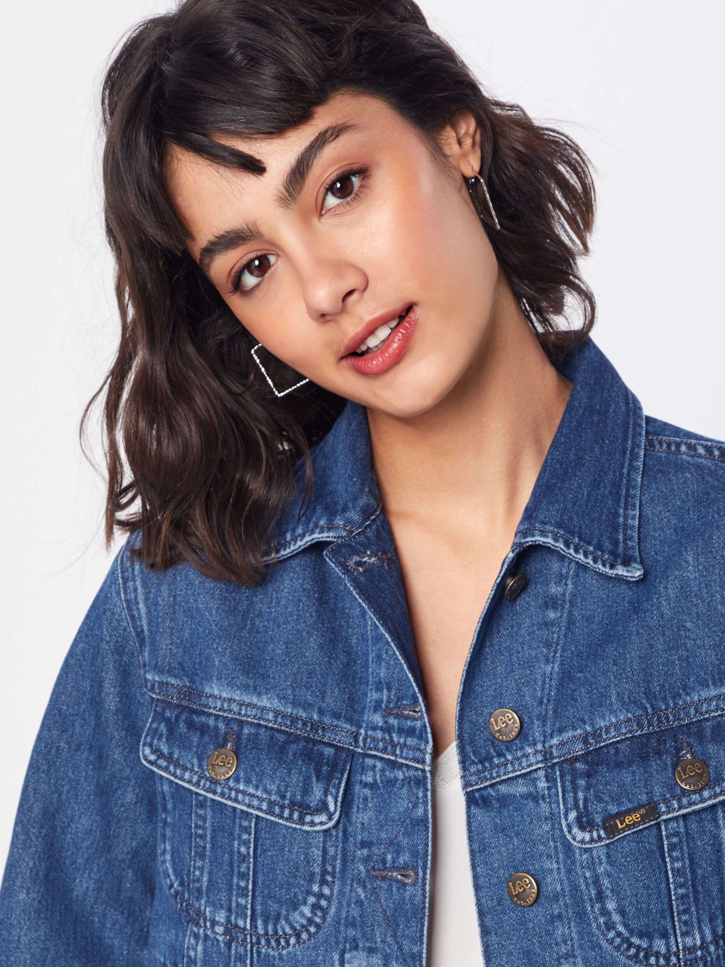 saison En Rider Jacket Bleu Mi Tic' Lee 'cropped Denim Veste gYf6by7