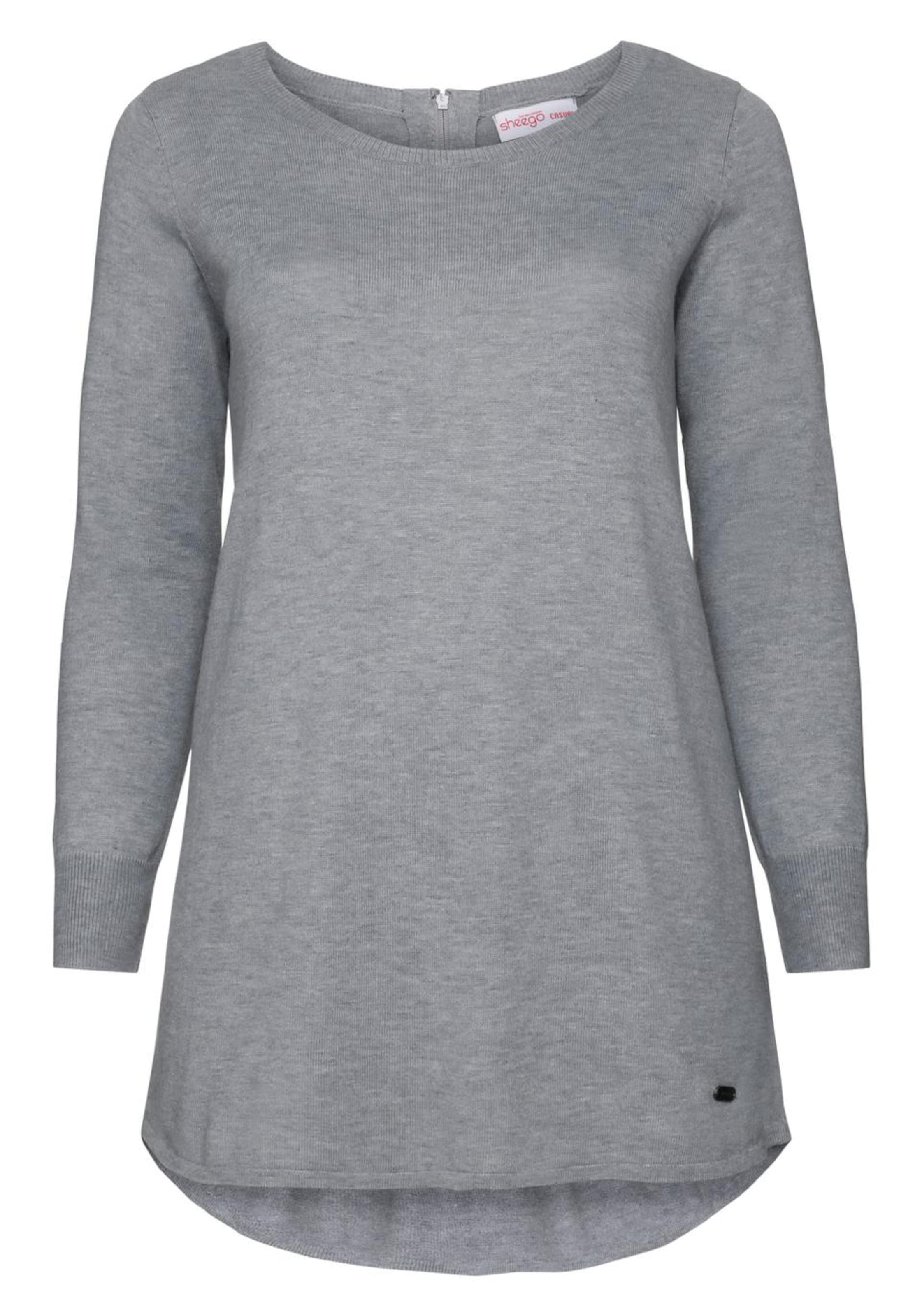 Casual Sheego Casual Grau Longpullover In Sheego Longpullover In gyf7Yb6