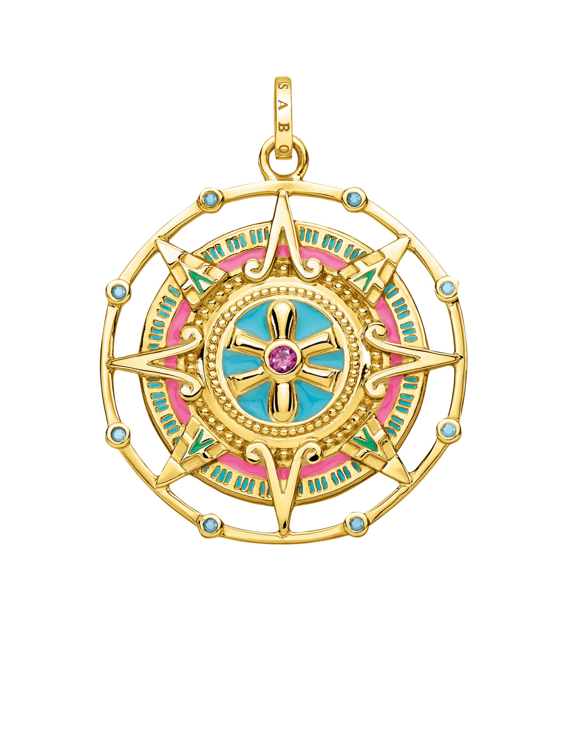 Thomas TurquoiseOr En Pendentif 'amulett' Rose Sabo TJc3lFuK1