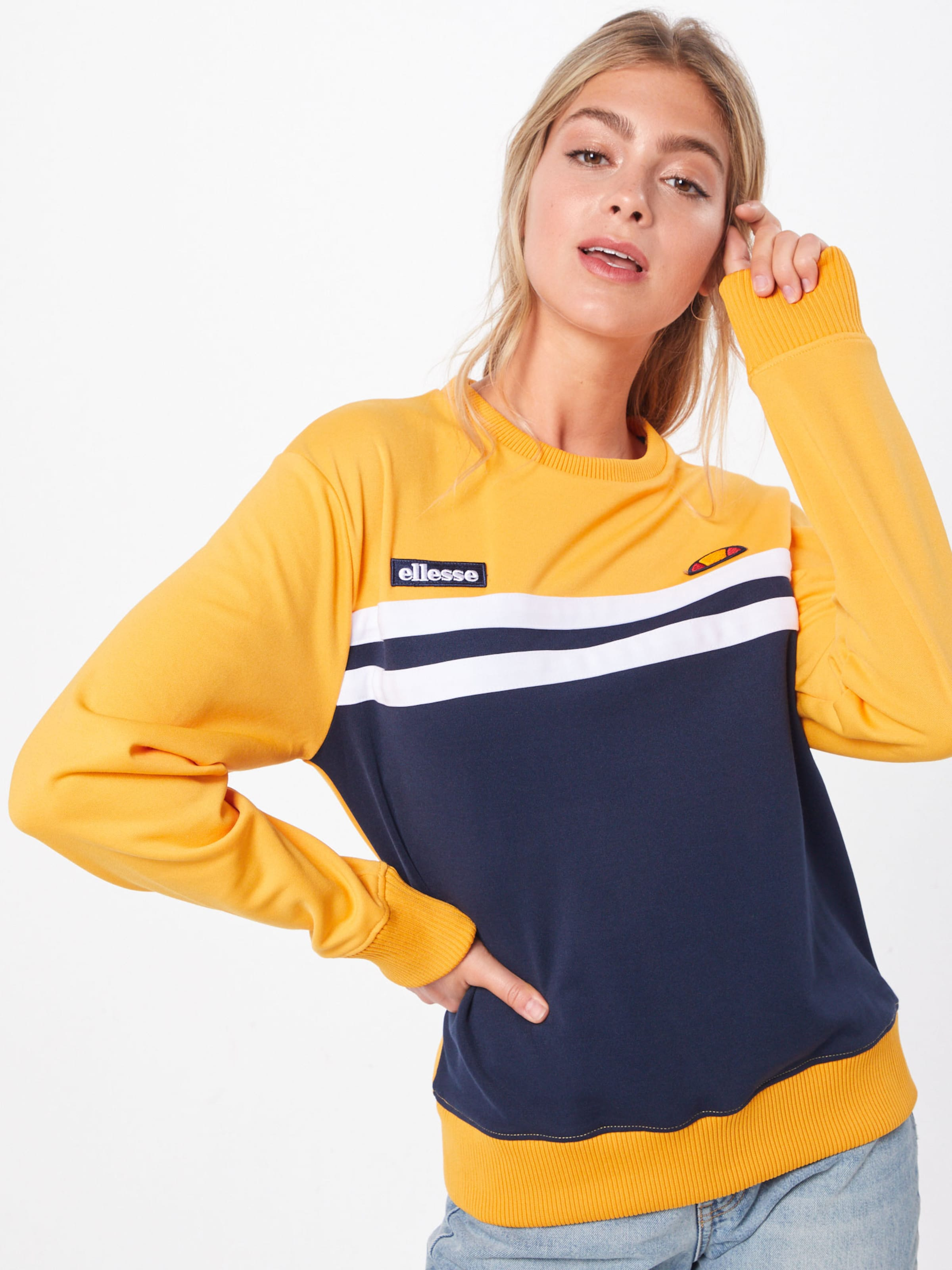 Ellesse Bleu En 'taria' Sweat shirt MarineBlanc lFTK1Jc