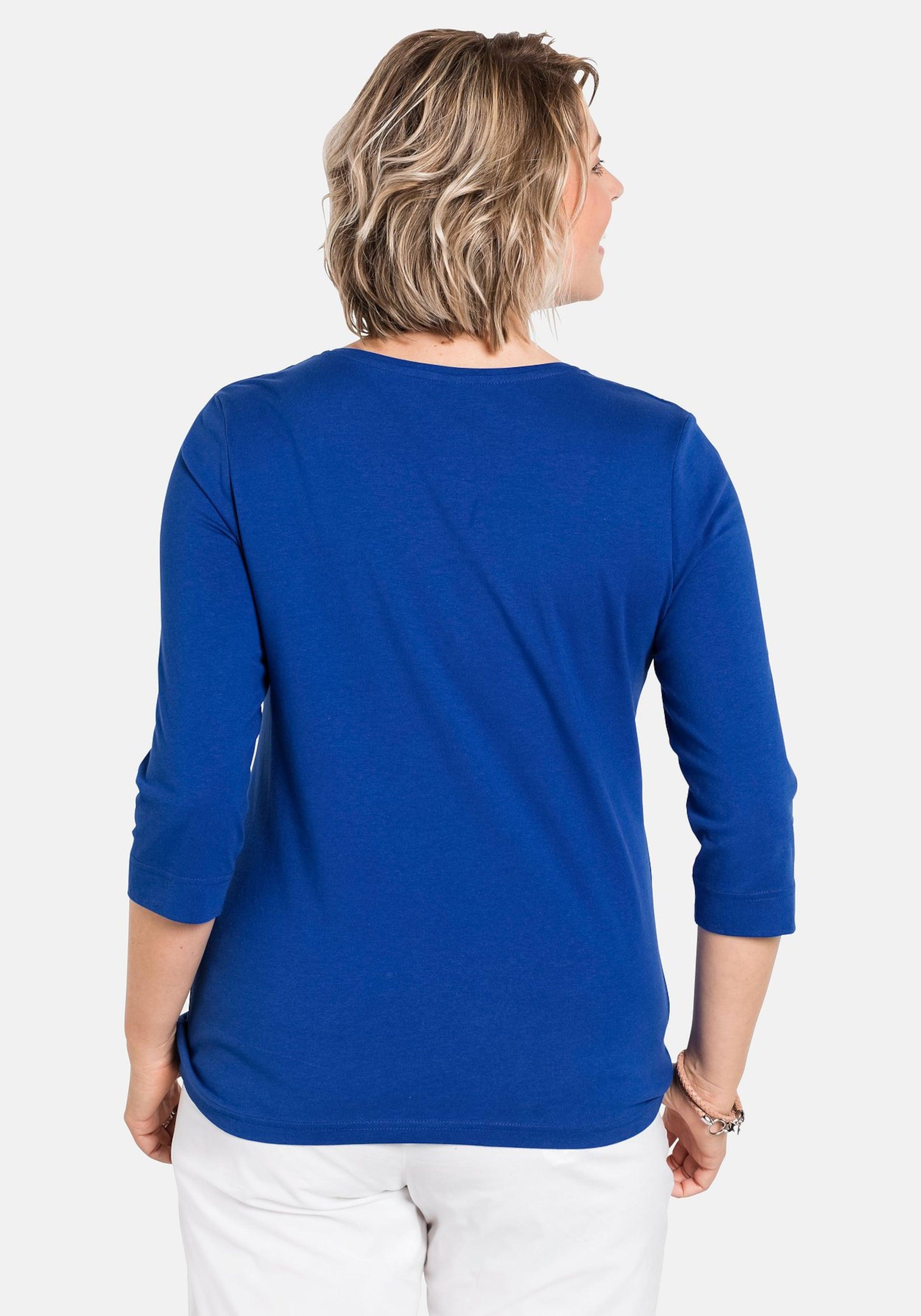 In Modernem Schriftzug Mit Sheego Shirt Blau dtCQhsrx