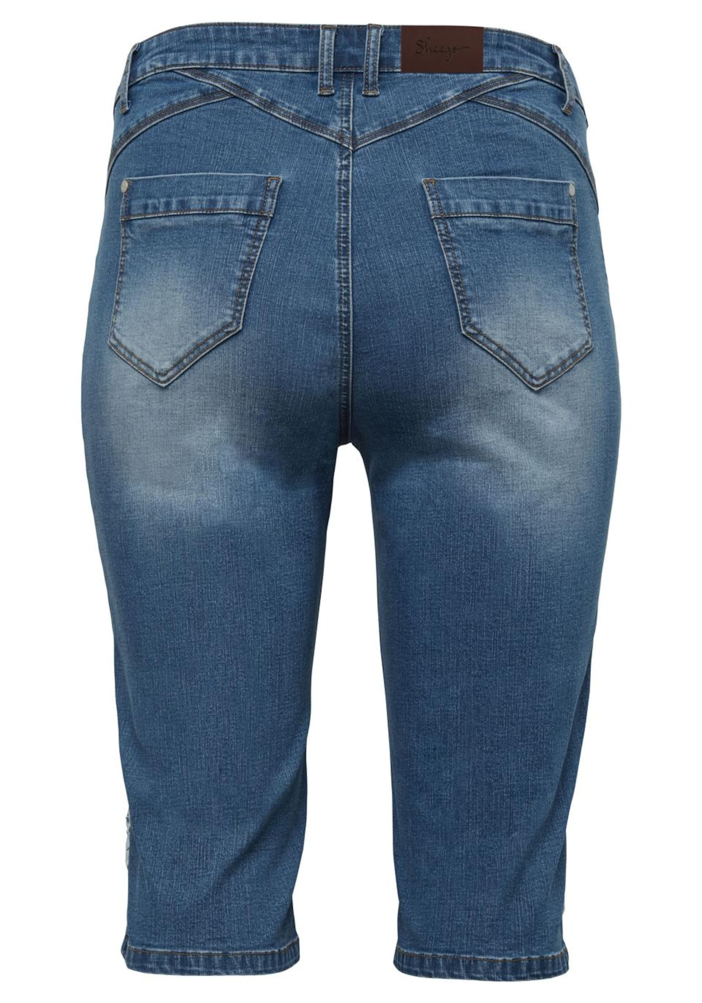 In Sheego Jeansbermudas Jeansbermudas Denim Sheego Jeansbermudas Sheego Blau Blau Denim Denim In QodCBWrex