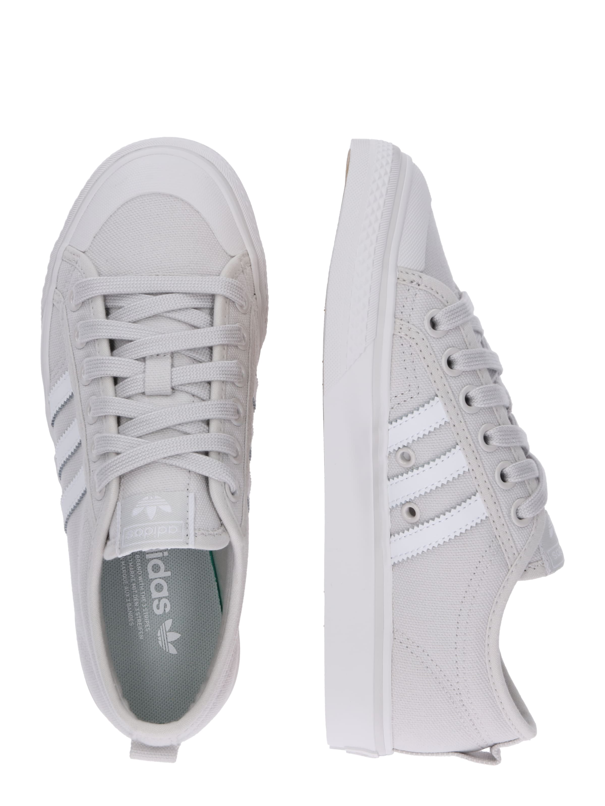 En Baskets Basses Originals 'nizza' Gris Adidas ClairBlanc SVpqUjMLzG