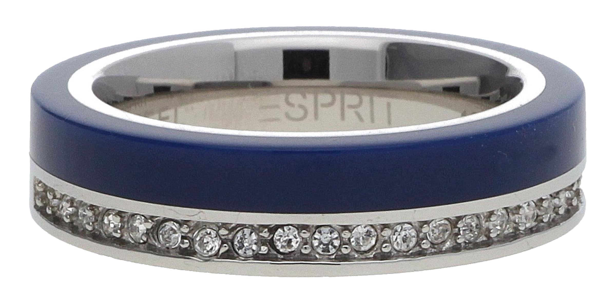 blau Esprit Marin Silber Esrg11565c 68 Fingerring In BlauSilber rdCsQth