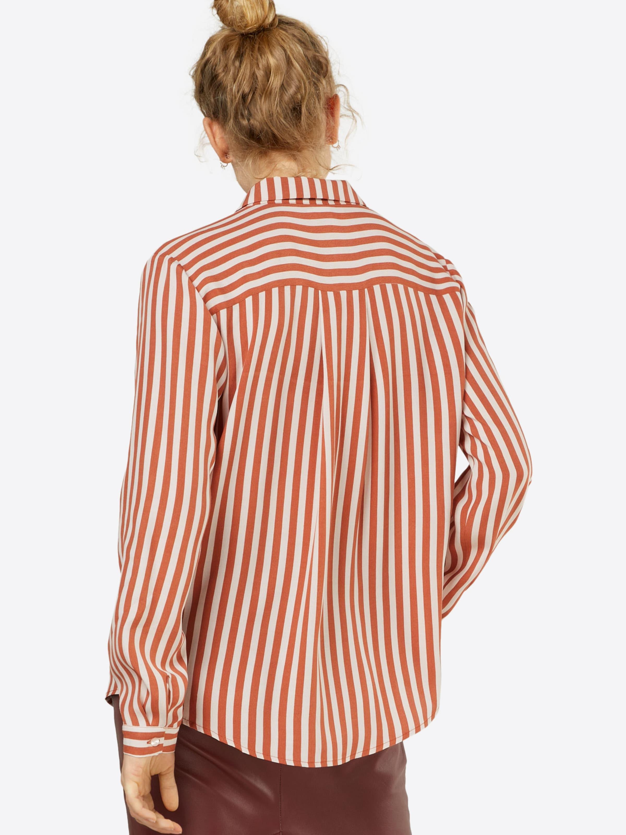 Shirt' En P Rouge 'two Saint RouilleBlanc Stripe Tropez Chemisier Tone bfvY6gy7