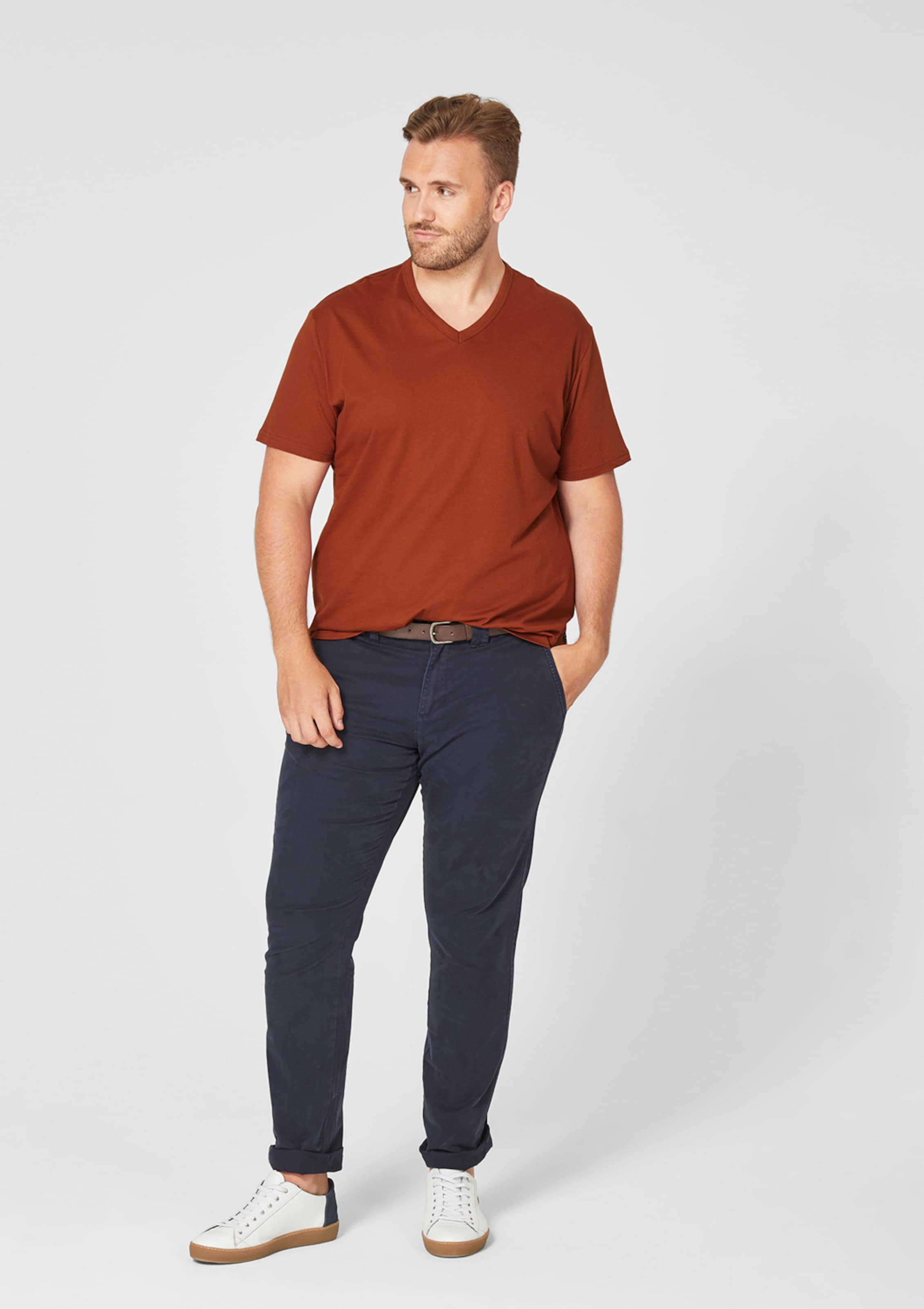 oliver shirt S neck Orange In Red Label V Omvw8Nn0