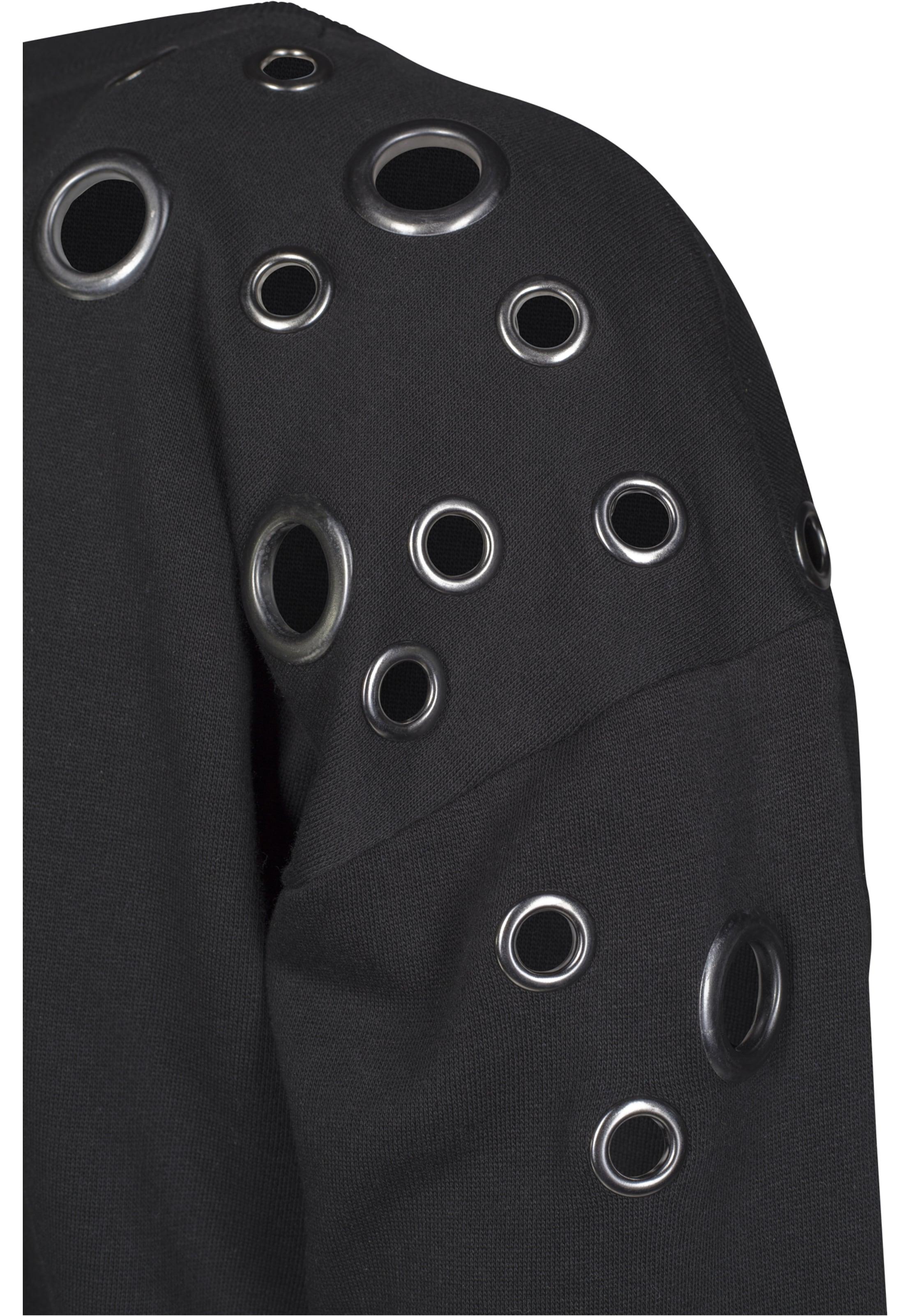 Urban Kleid 'sweat Schwarz Eyelet' In Classics Curvy nkOP80w
