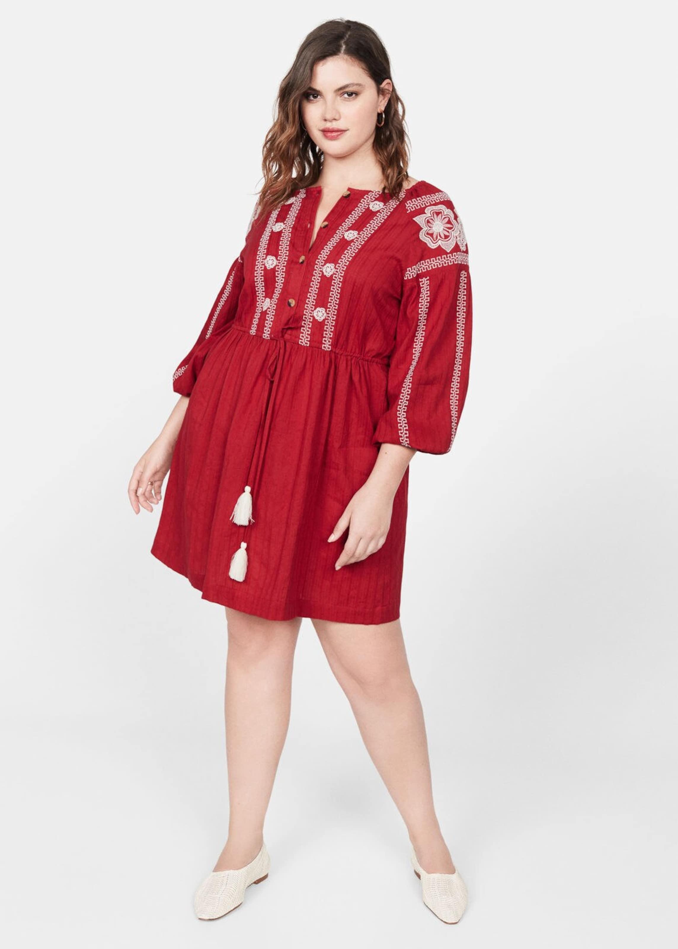 Mango Kleid In Rot 'bordado Violeta By i' CxBdroe