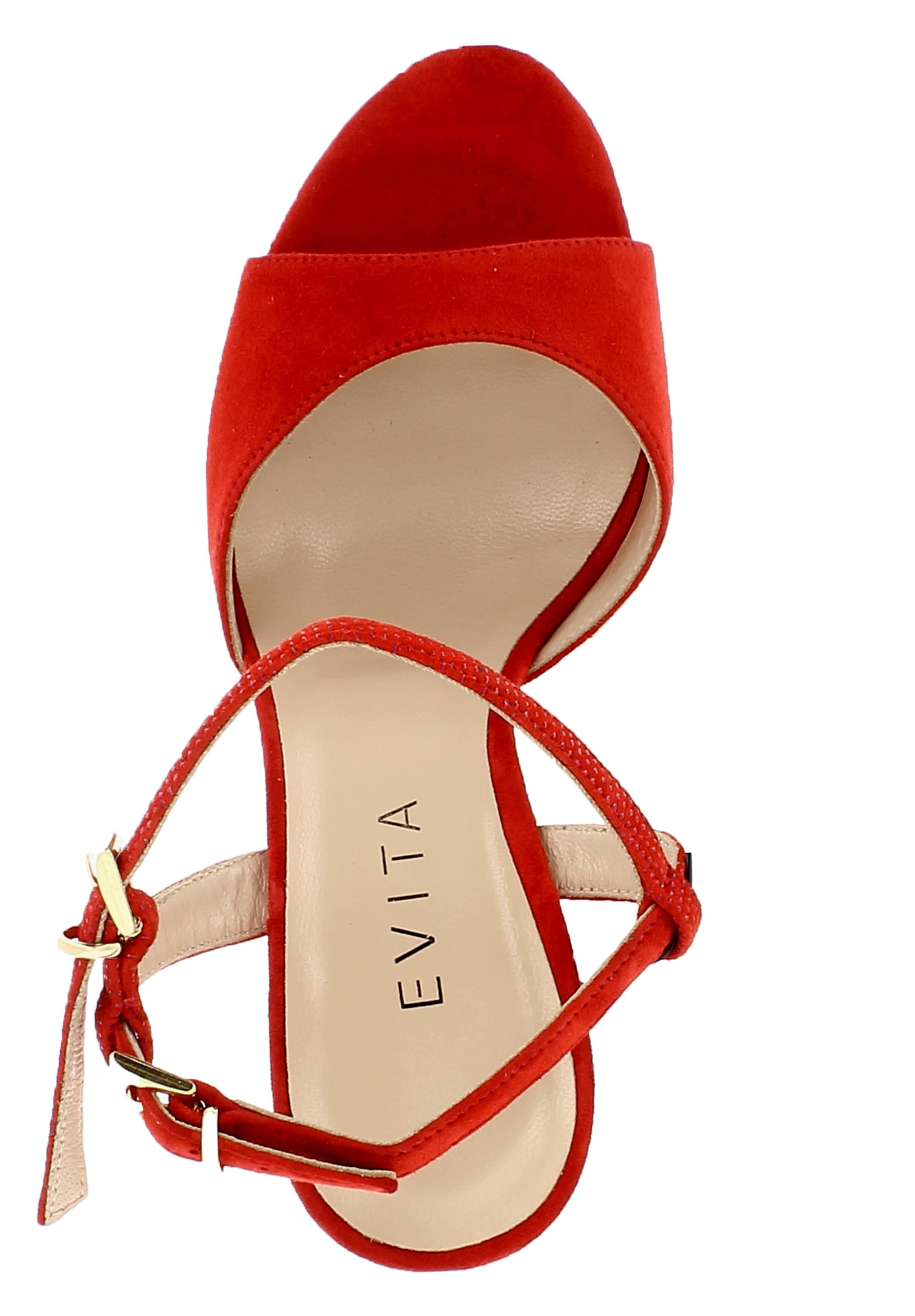 Foncé À Evita Lanières Sandales En Rouge H92IEDWY