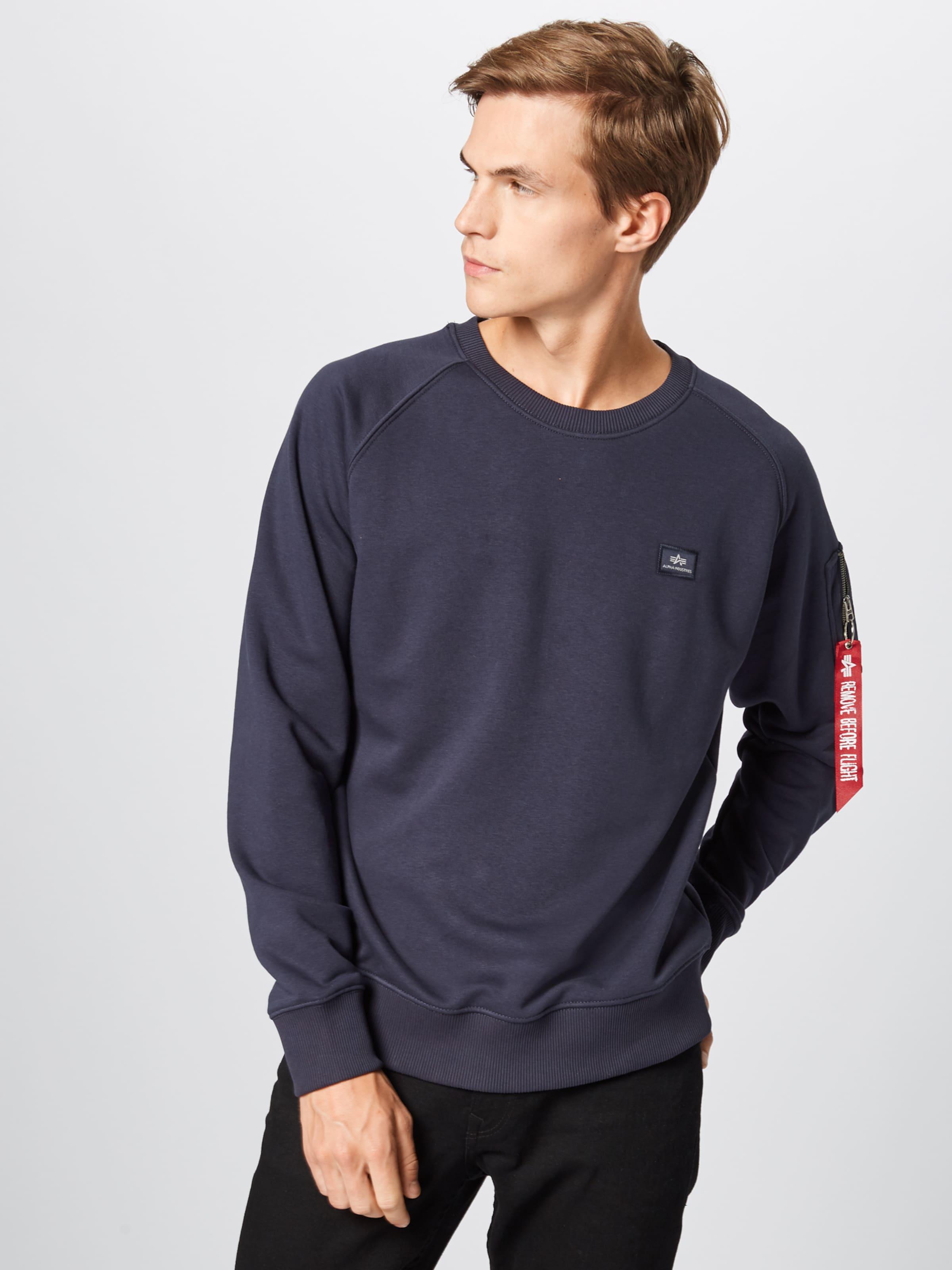Industries Alpha Bleu shirt En Marine Sweat QWCBrdxoe