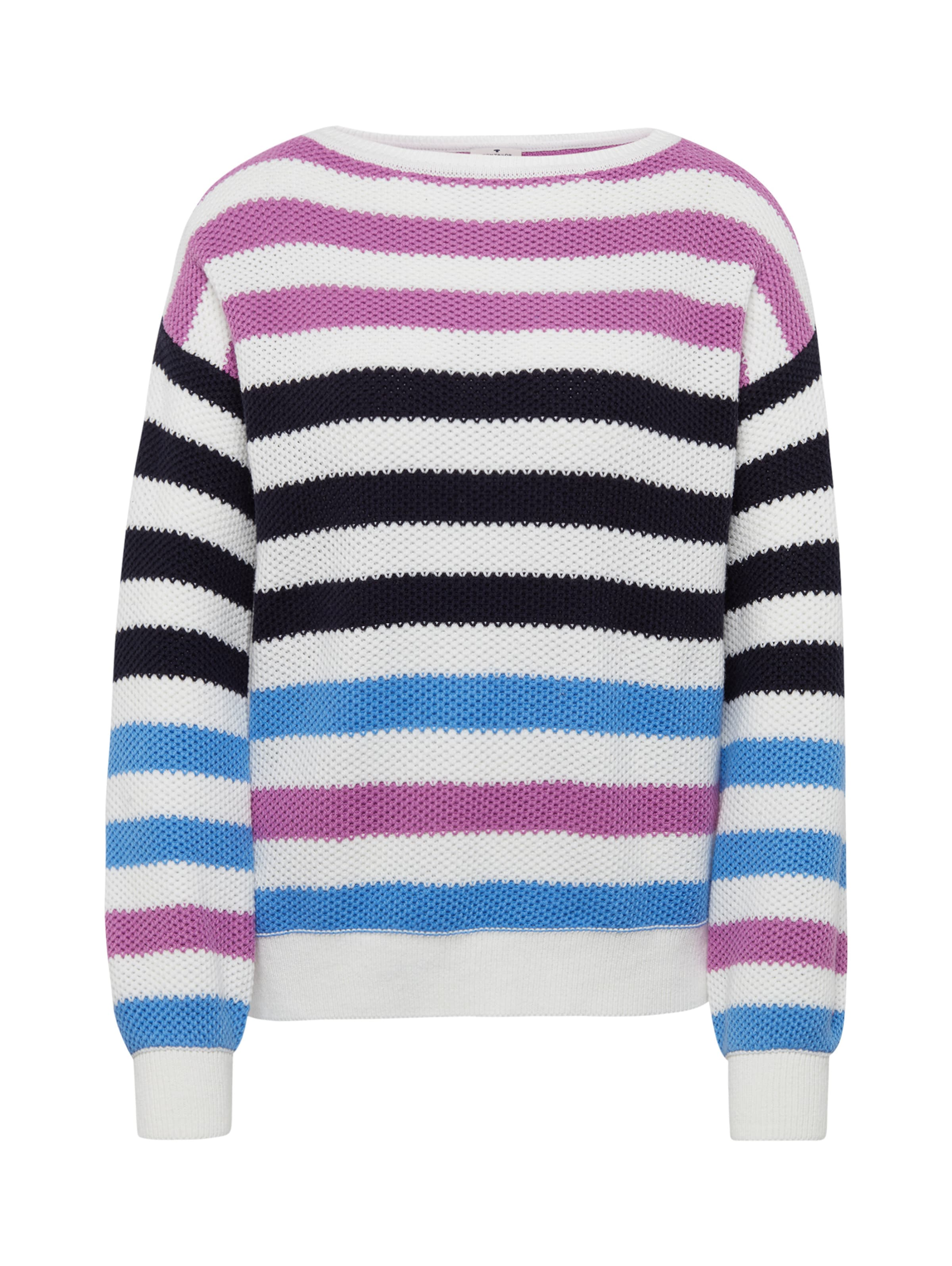 Pullover Lila In NachtblauHimmelblau Tom Tailor Wei uTFc1J3lK