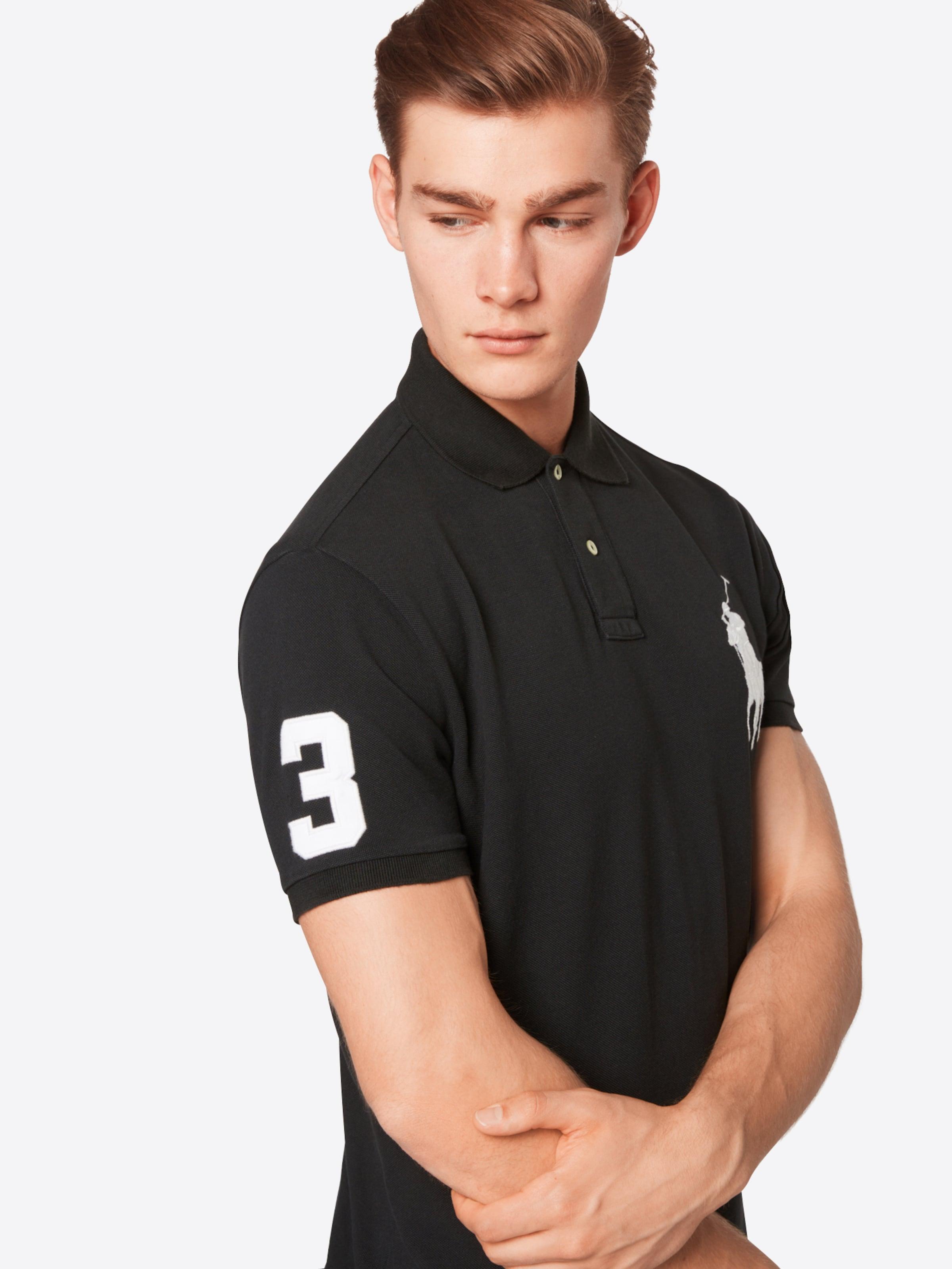 Ralph 'sskcbppcmsl Lauren knit' shirt T short Polo NoirBlanc Sleeve En kZwOPiXulT