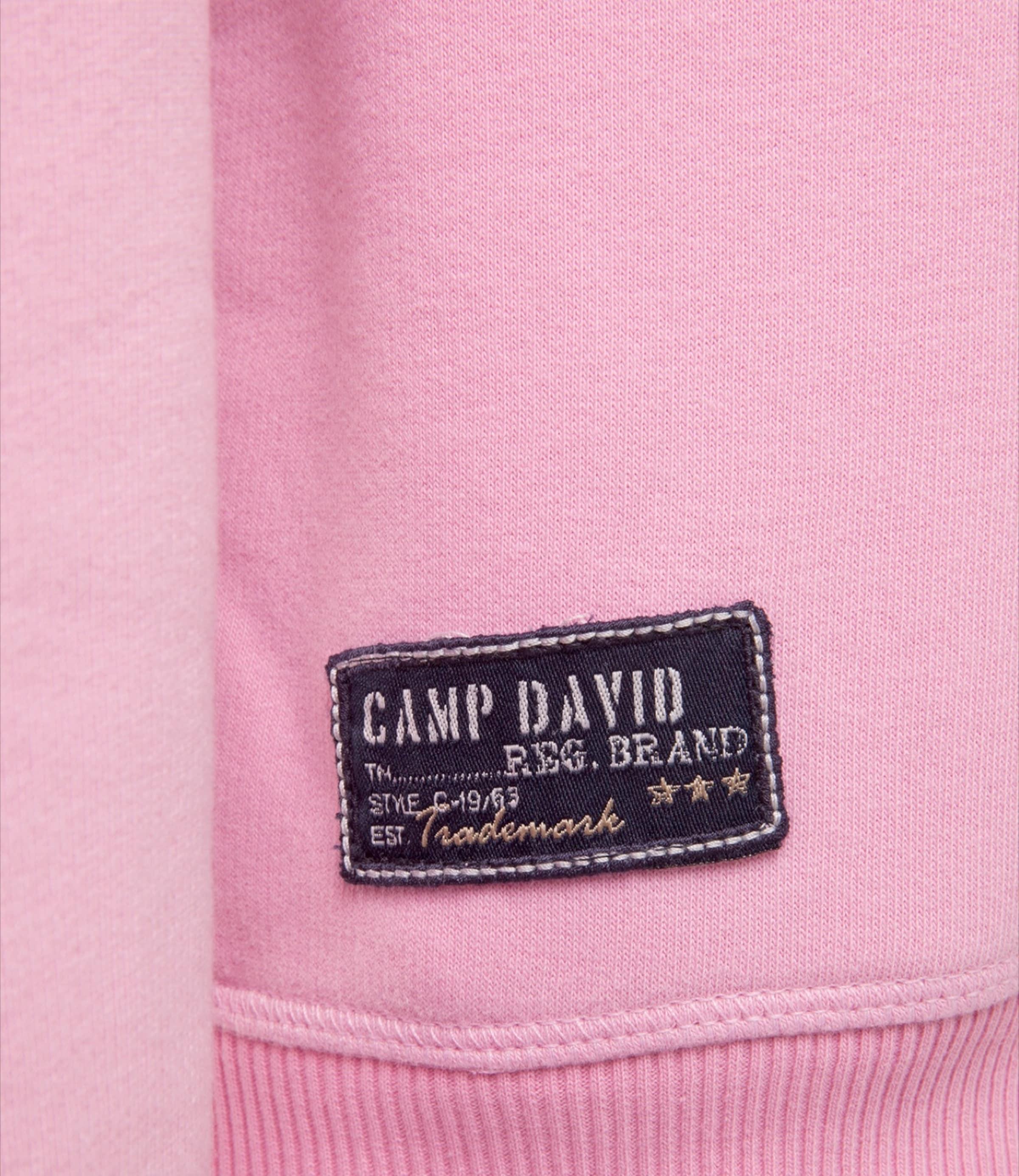 RosaSchwarz Camp Hoodie Print David Used Mit Beidseitigem In rthsQd