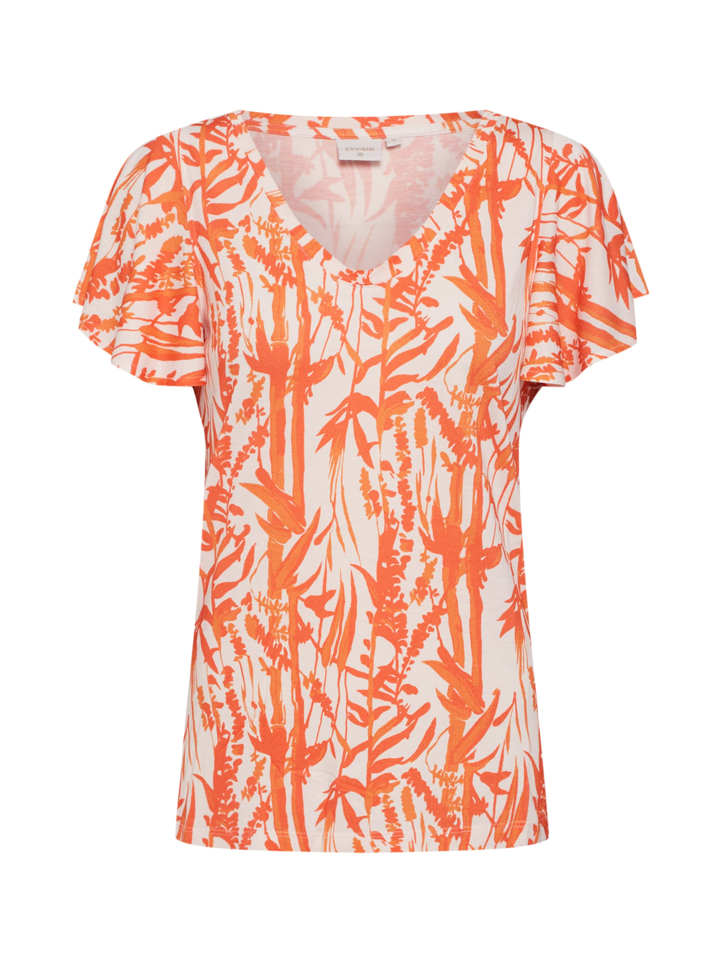 En Cream shirt 'ninna' T OrangeBlanc AL54Rcjq3