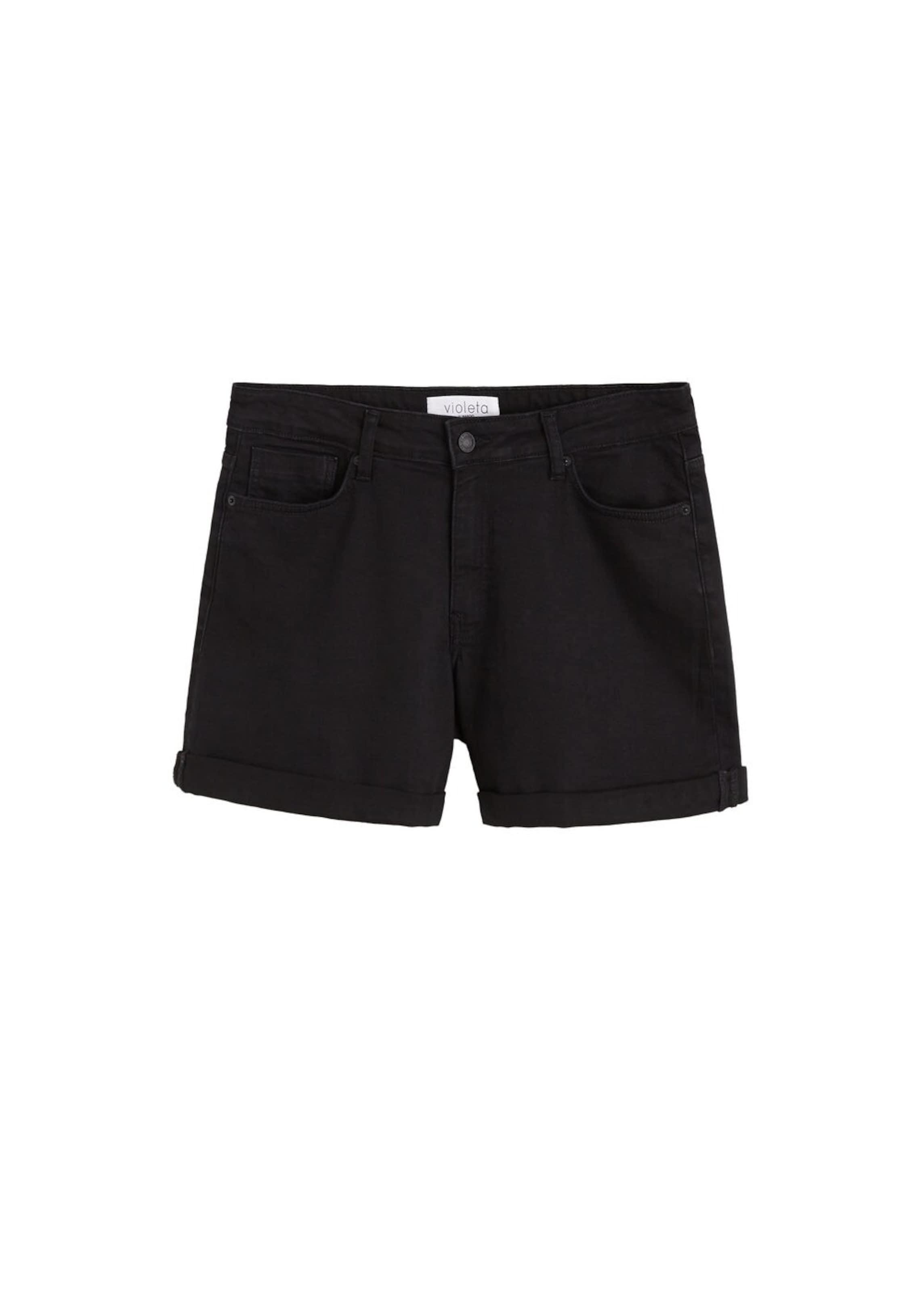 Shorts Schwarz By Mango 'vicky' In Violeta SVzMLpqGU