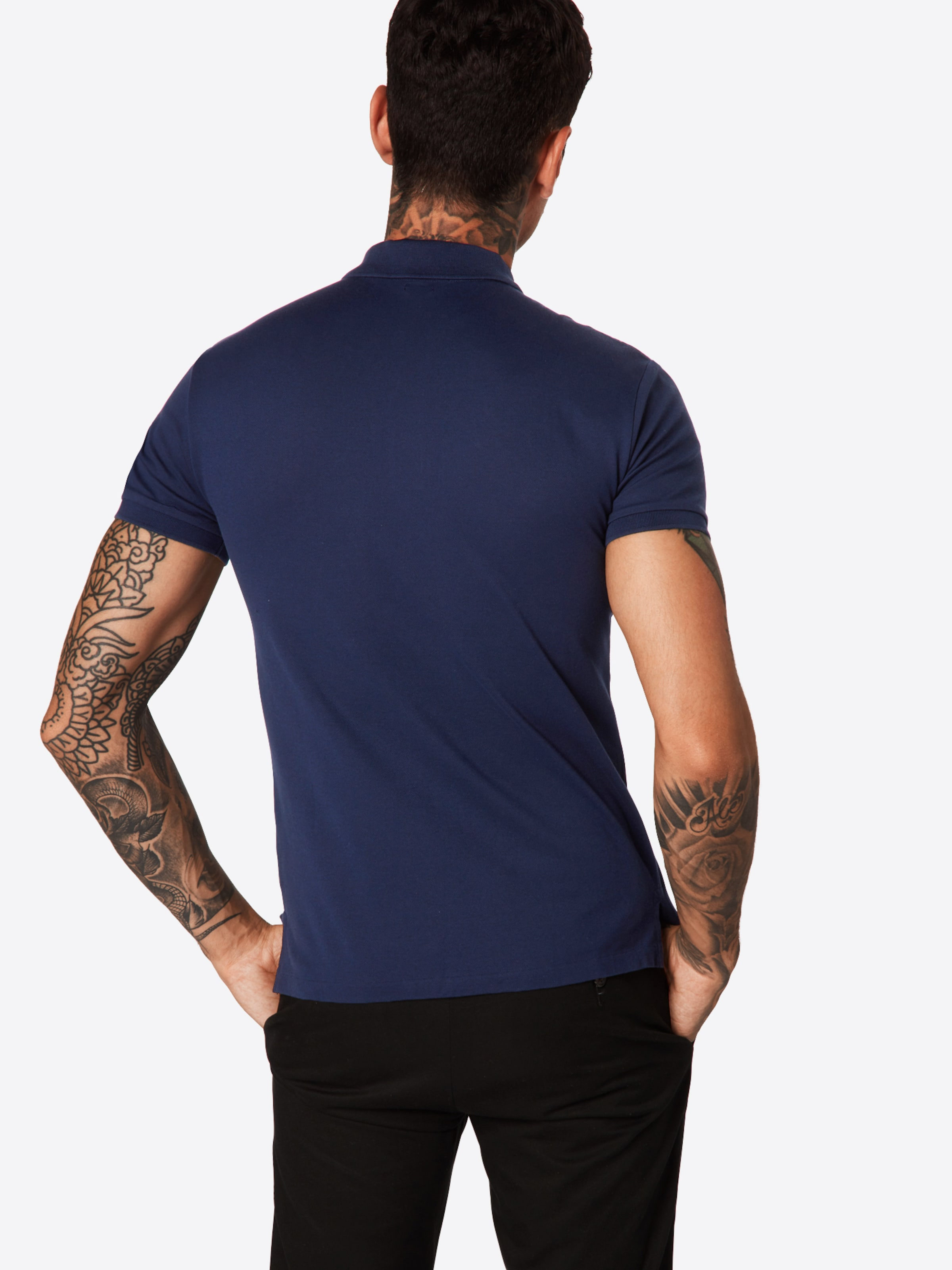 Sleeve Gris short Polo shirt En Ralph 'sskcslm1 Lauren knit' T W2YeE9DIH